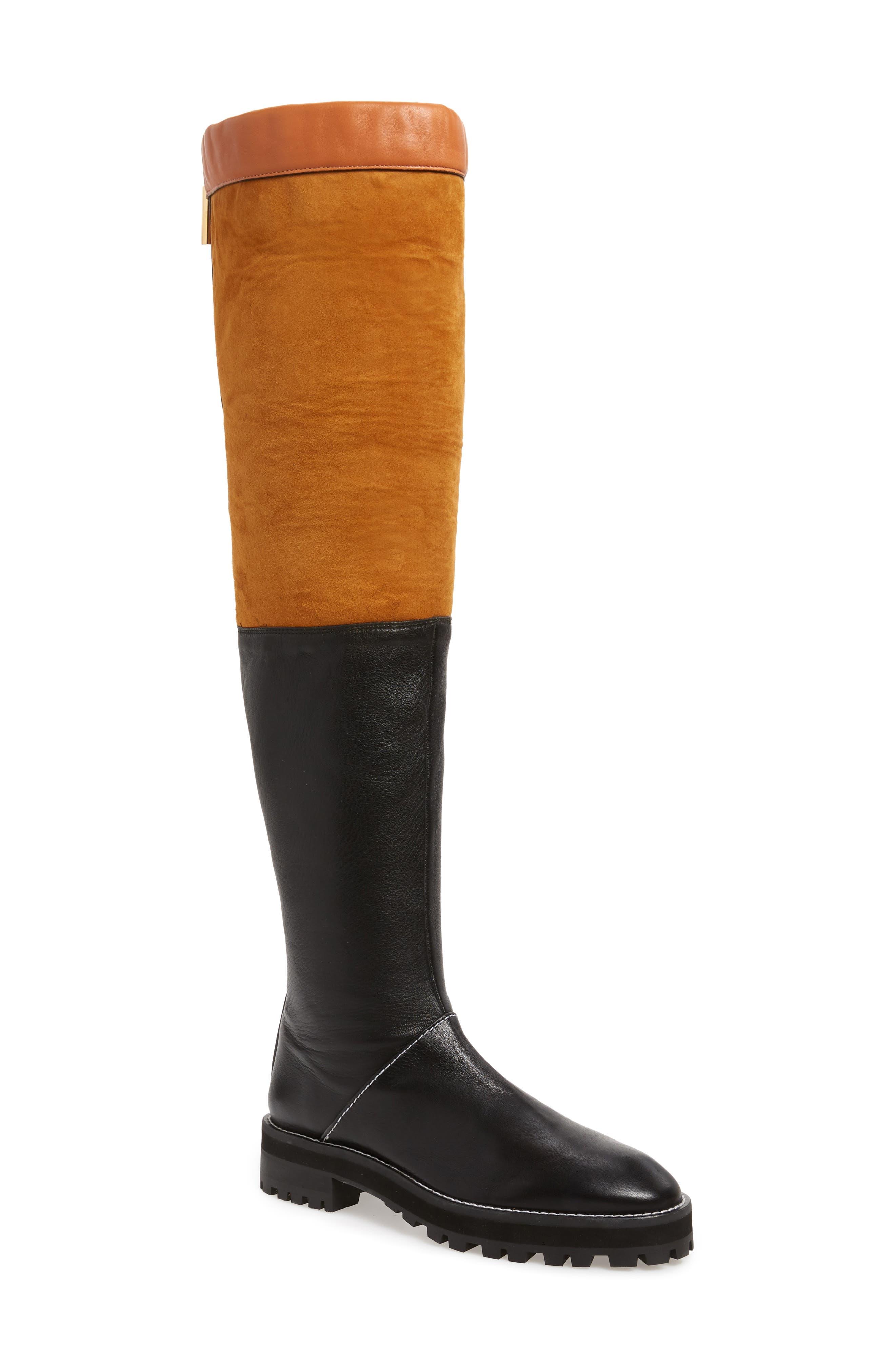 Renata Genuine Shearling Boot,                             Alternate thumbnail 2, color,                             BLACK ANDORRA