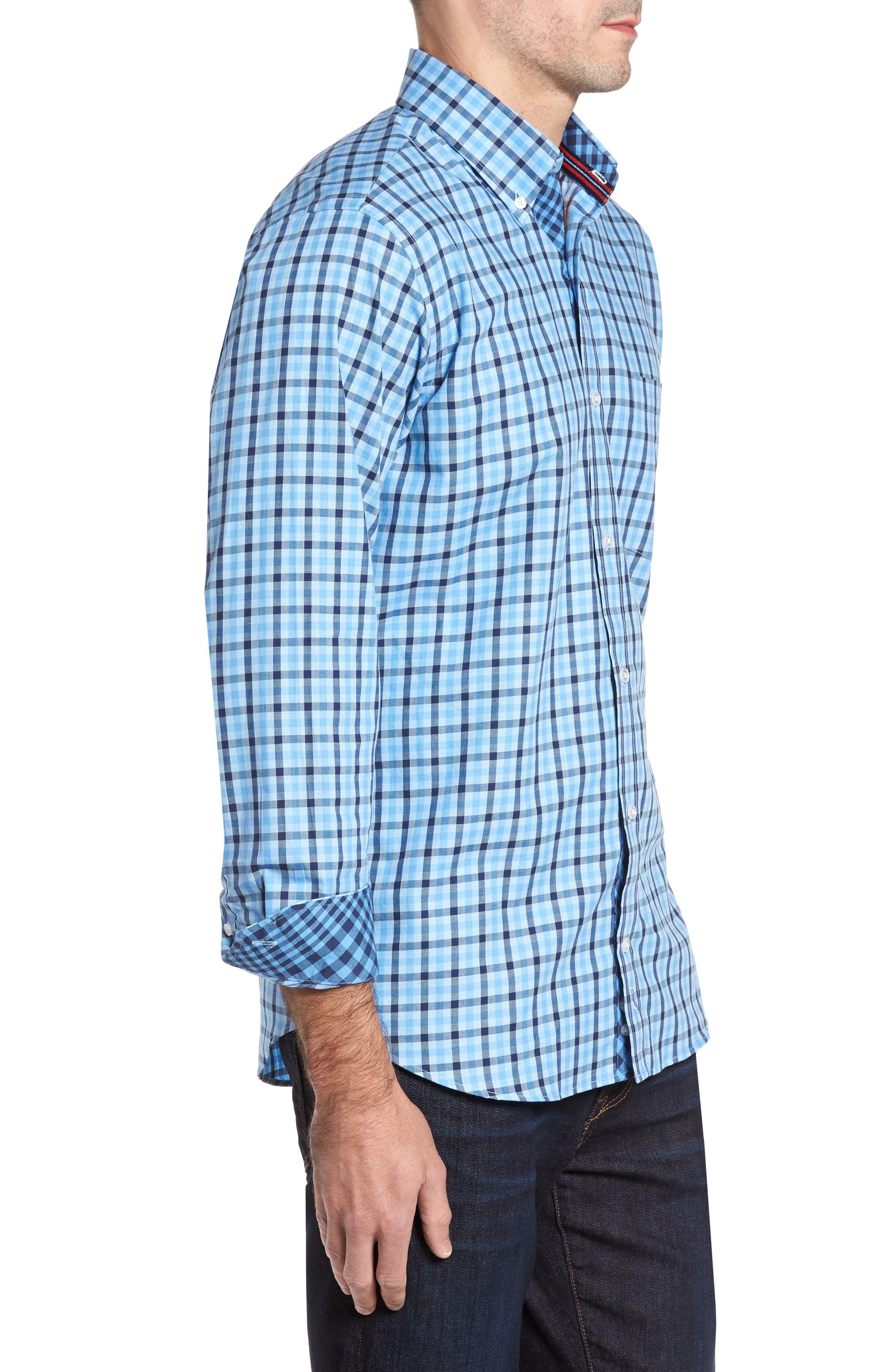 Benton Check Sport Shirt,                             Alternate thumbnail 3, color,