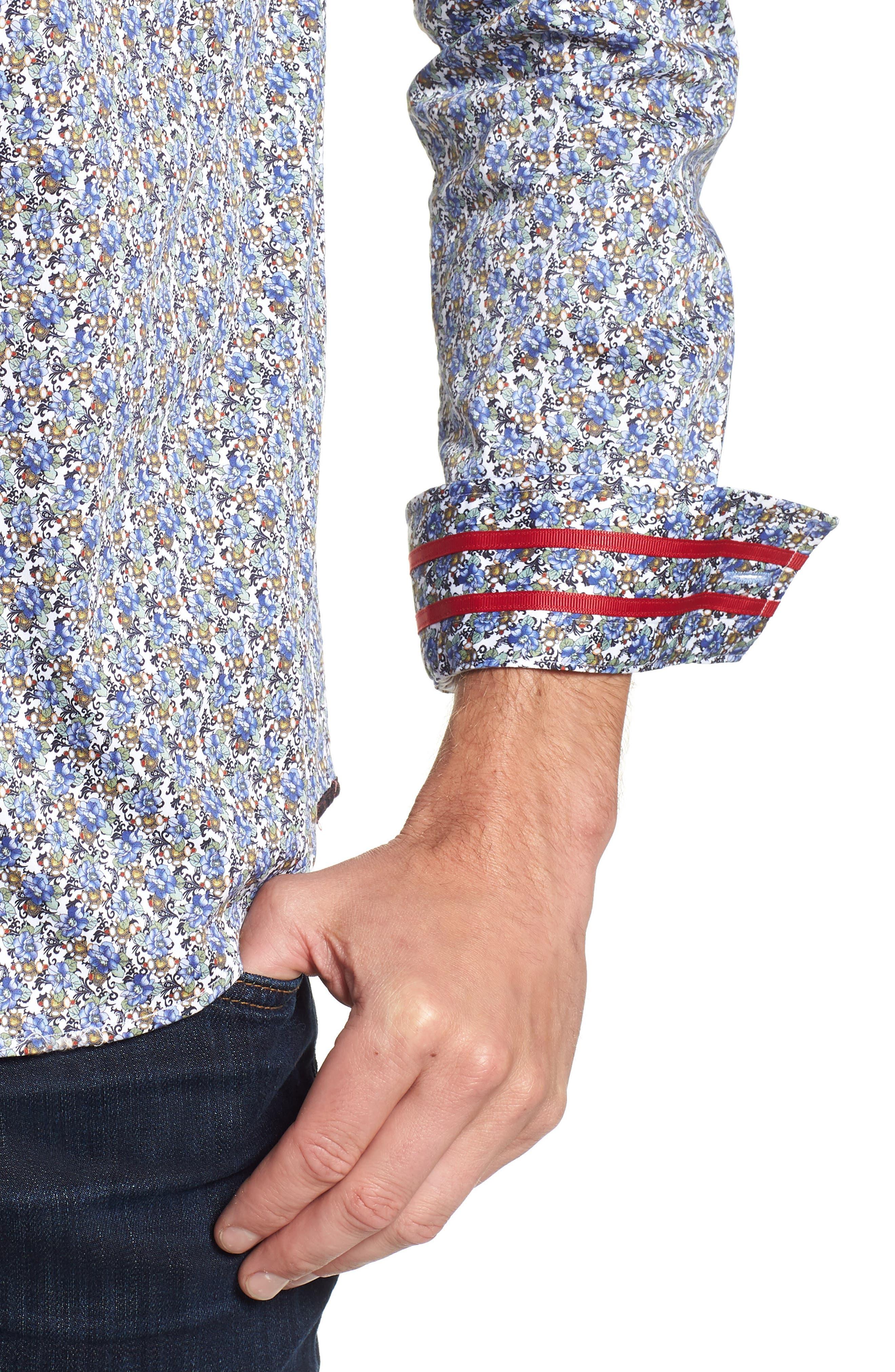 Richardson Tailored Fit Print Sport Shirt,                             Alternate thumbnail 2, color,                             400