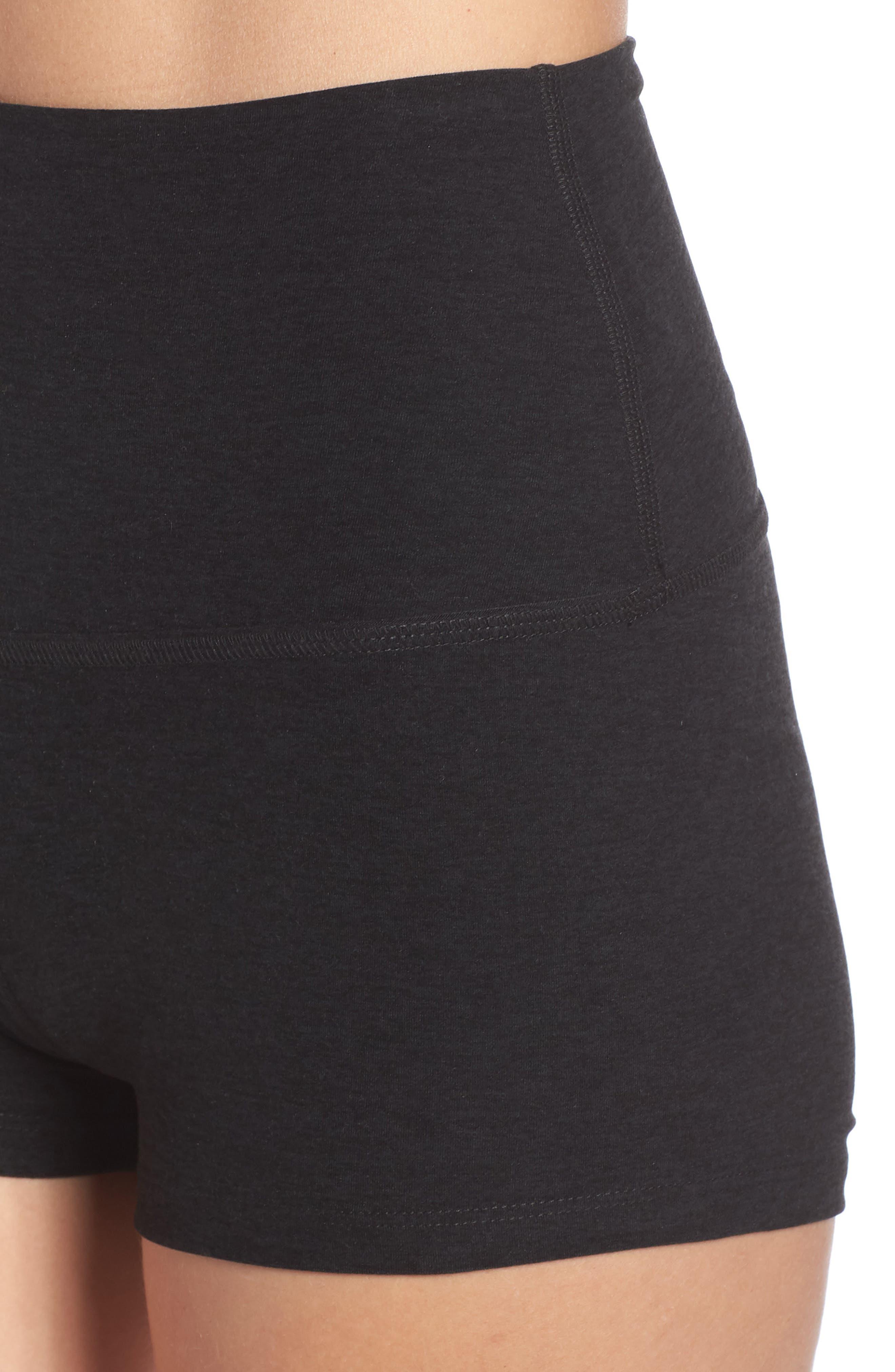 Space Dye Circuit High Waist Shorts,                             Alternate thumbnail 4, color,                             DARKEST NIGHT
