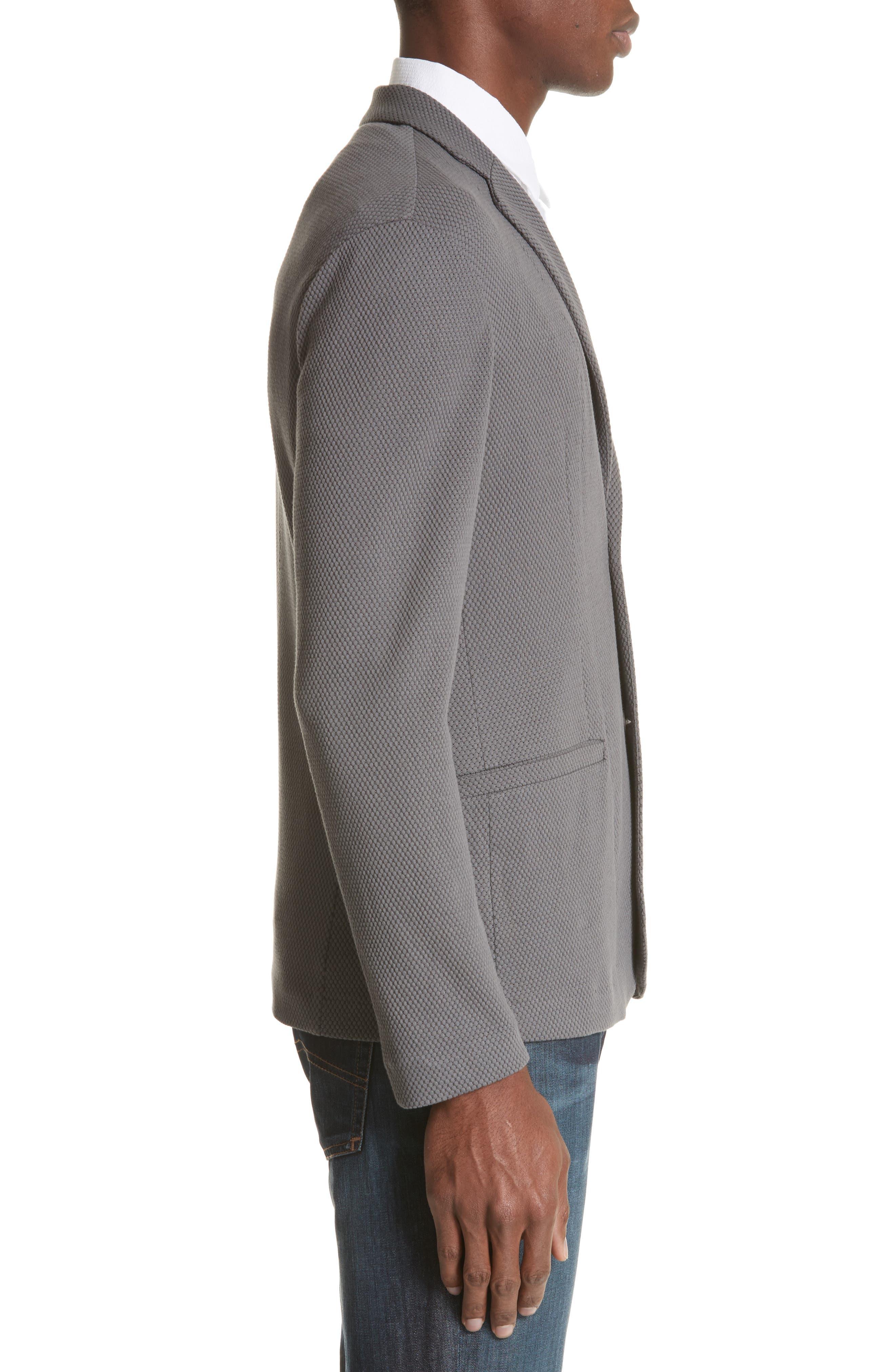Regular Fit Knit Blazer,                             Alternate thumbnail 3, color,                             034