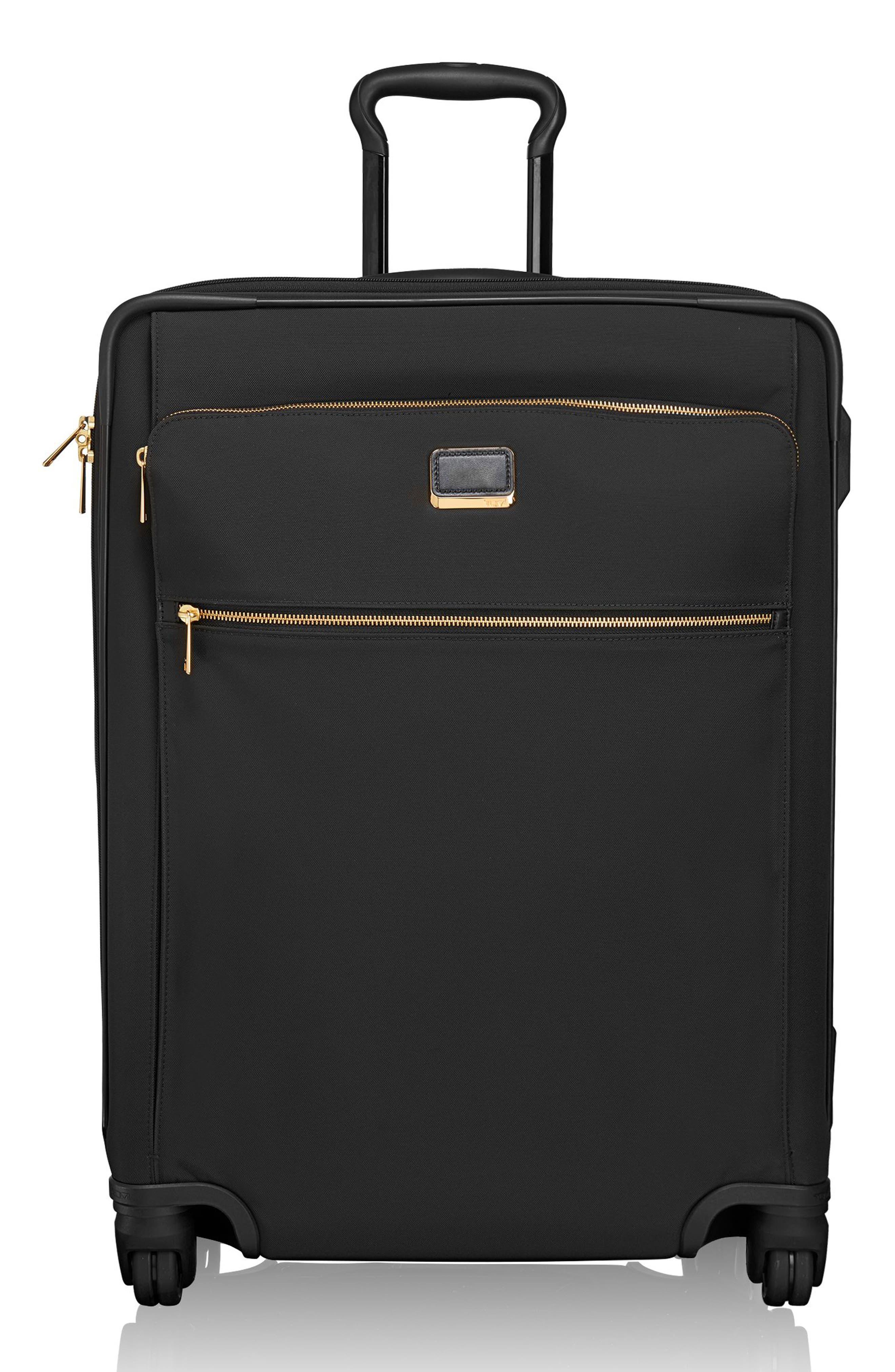 Larkin - Jess Short Trip 26-Inch Expandable 4-Wheel Suitcase,                             Alternate thumbnail 2, color,                             BLACK