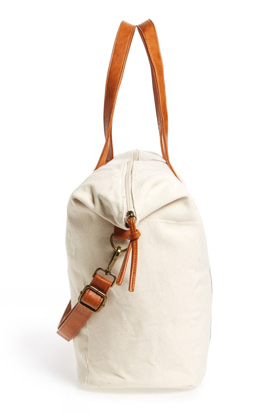 NU-G,                             Slouchy Canvas Overnighter Bag,                             Alternate thumbnail 5, color,                             200