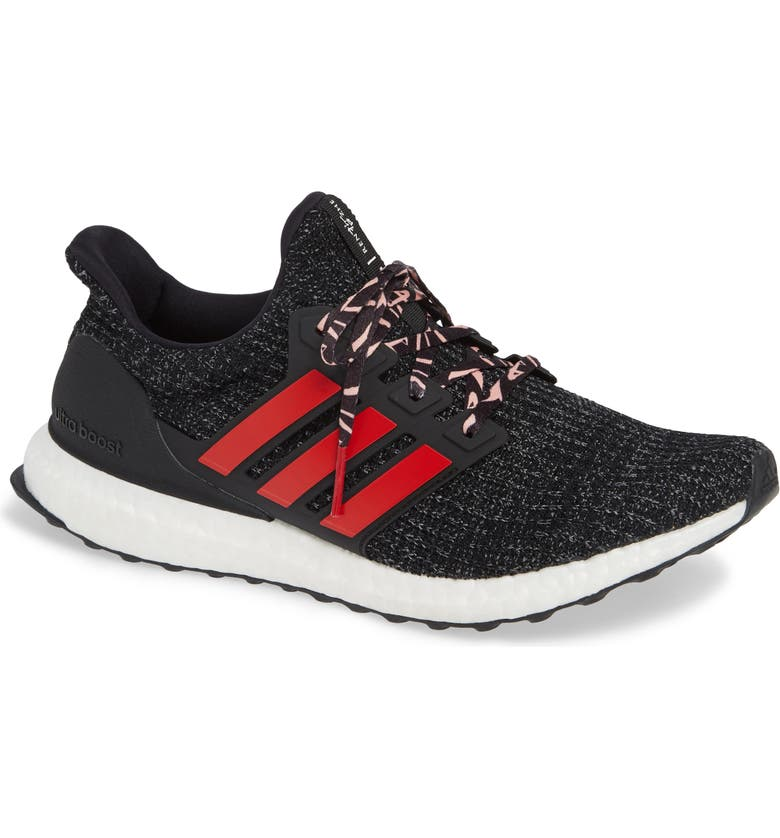 best loved e809f 0e7ae ADIDAS UltraBoost Running Shoe, Main, color, CORE BLACK SCARLET