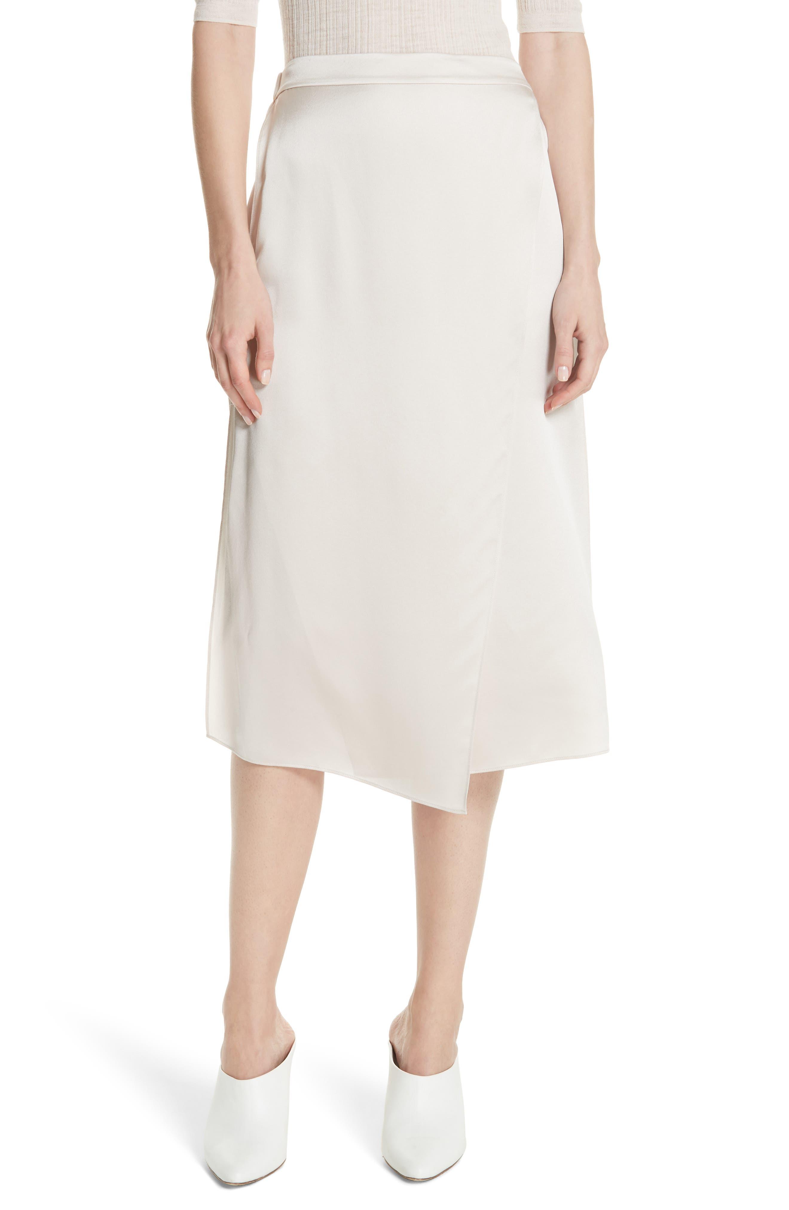 Drape Panel Silk Skirt,                             Main thumbnail 1, color,                             292