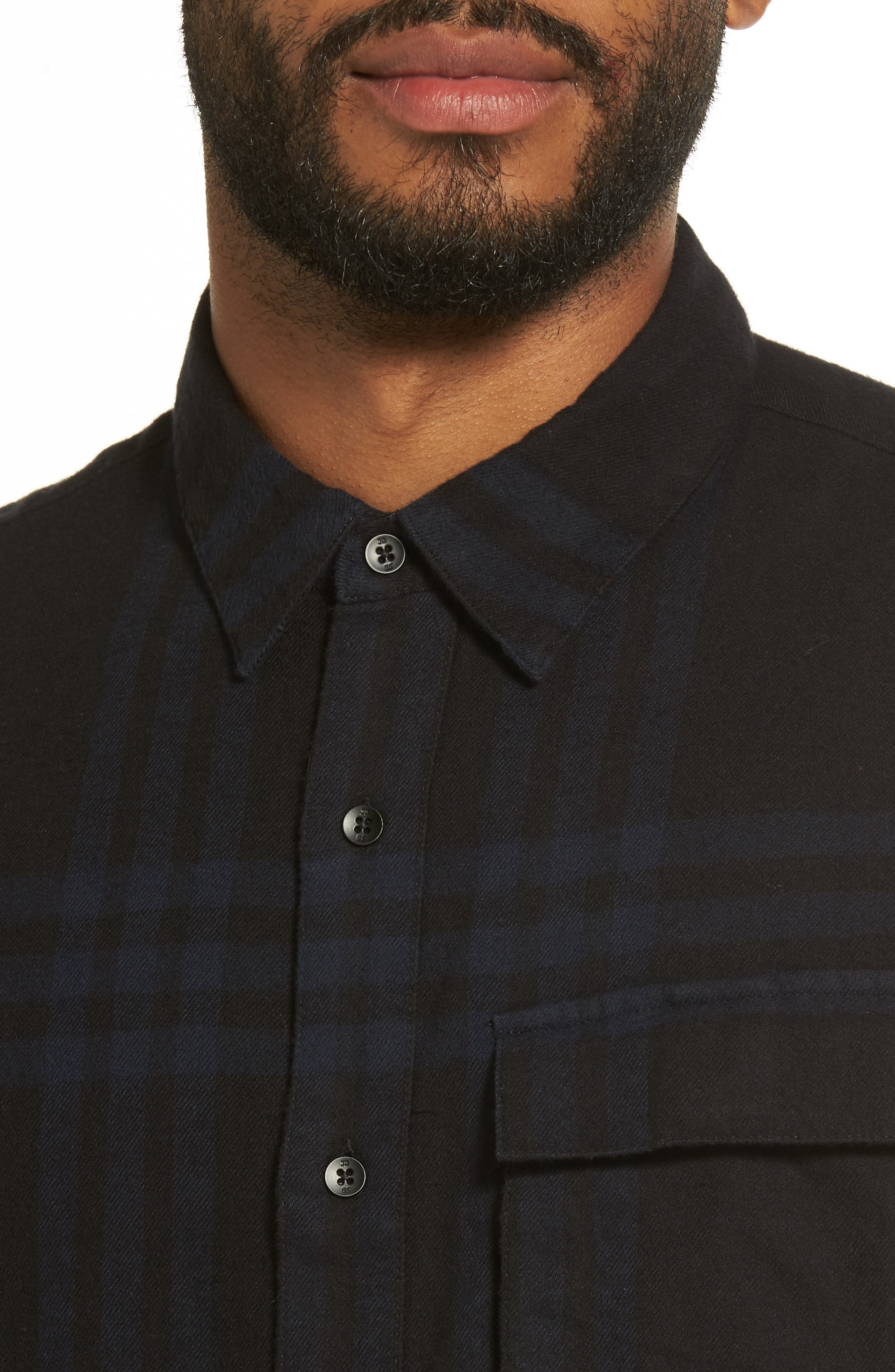Bellowed Plaid Classic Shirt,                             Alternate thumbnail 8, color,