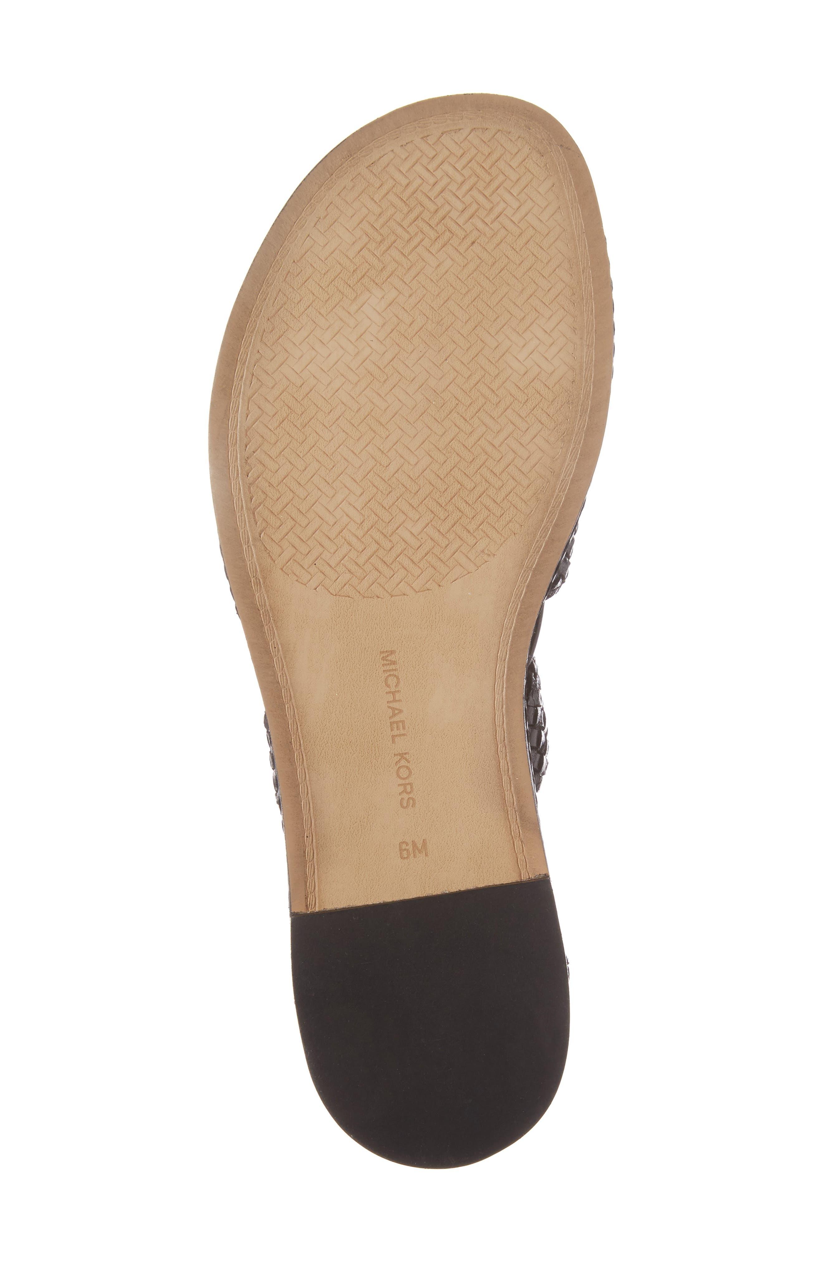 Monterey Lace-Up Gladiator Sandal,                             Alternate thumbnail 6, color,                             001