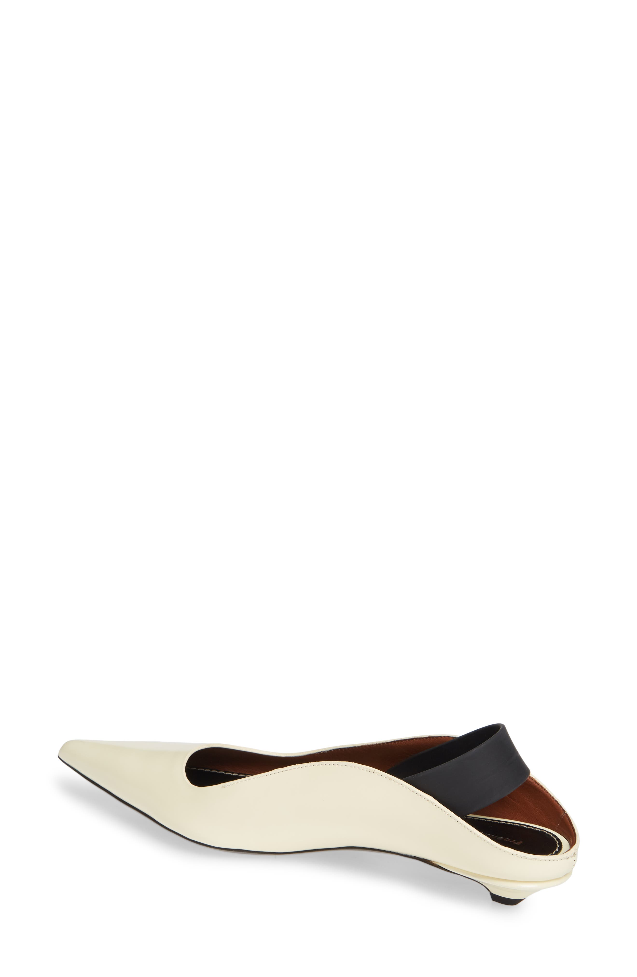 PROENZA SCHOULER,                             Wave Pointy Toe Pump,                             Alternate thumbnail 2, color,                             WHITE