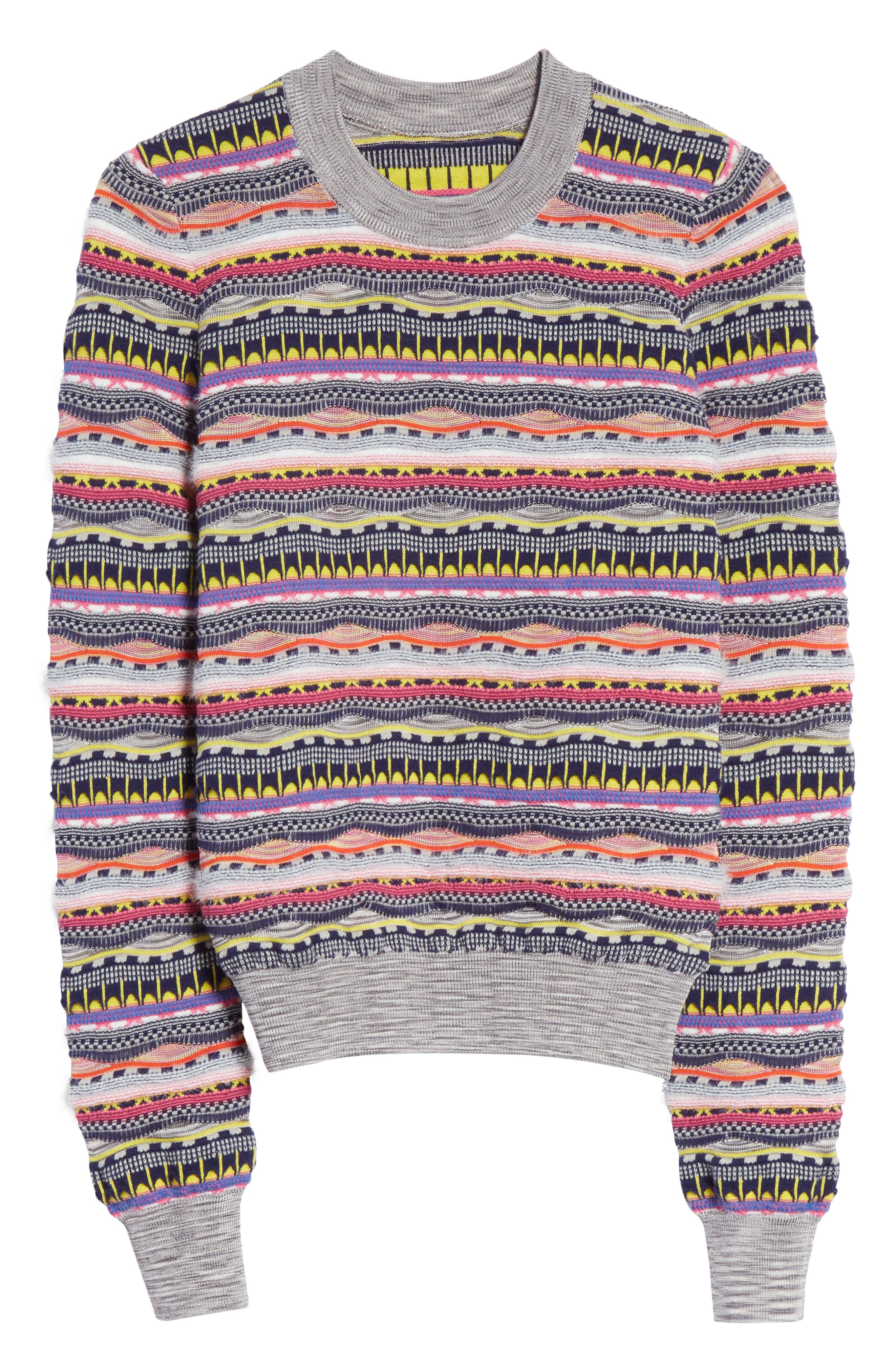 Knit Cotton Blend Sweater,                             Alternate thumbnail 6, color,