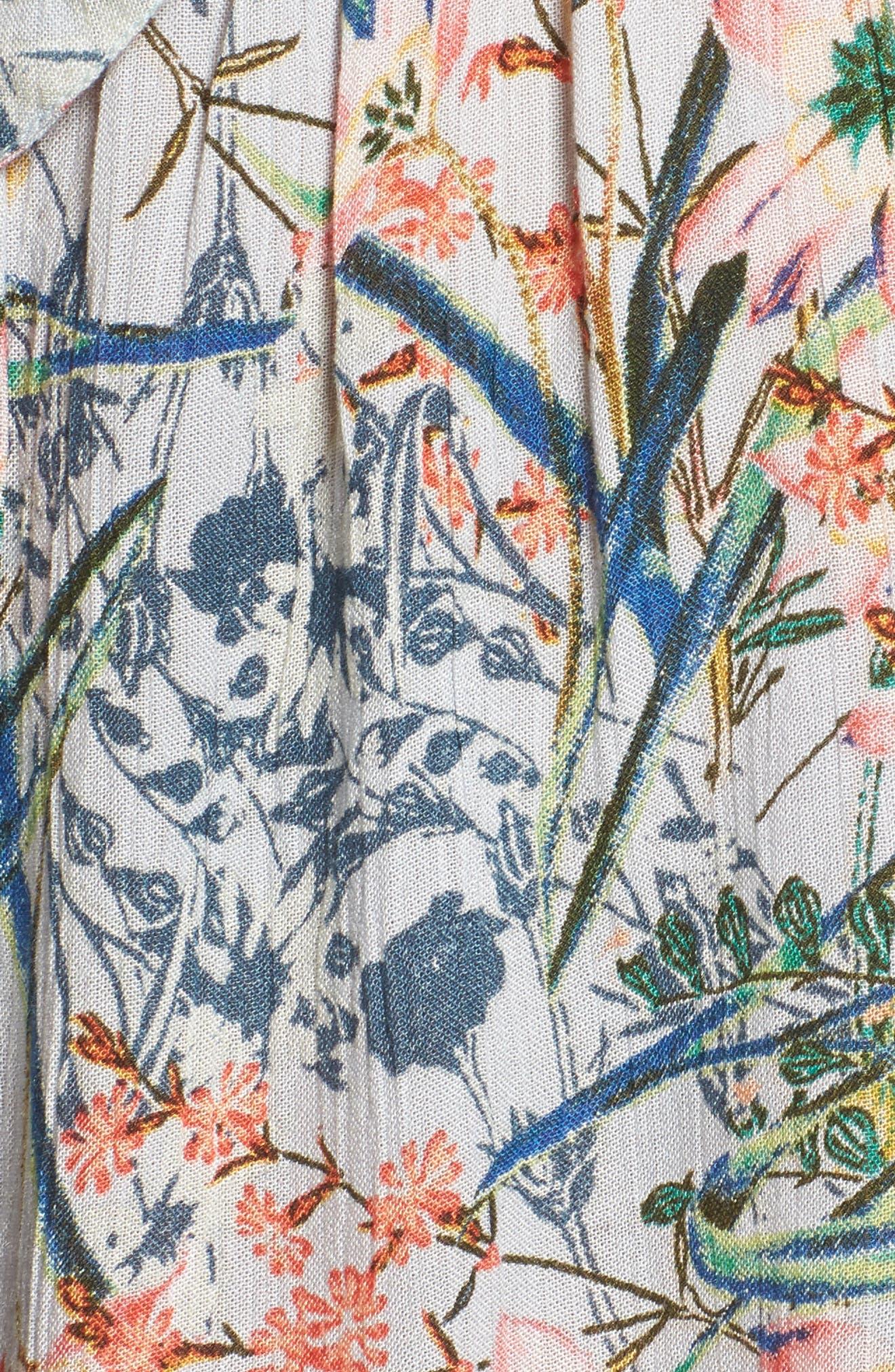 Monique Tie Front Romper,                             Alternate thumbnail 5, color,                             401