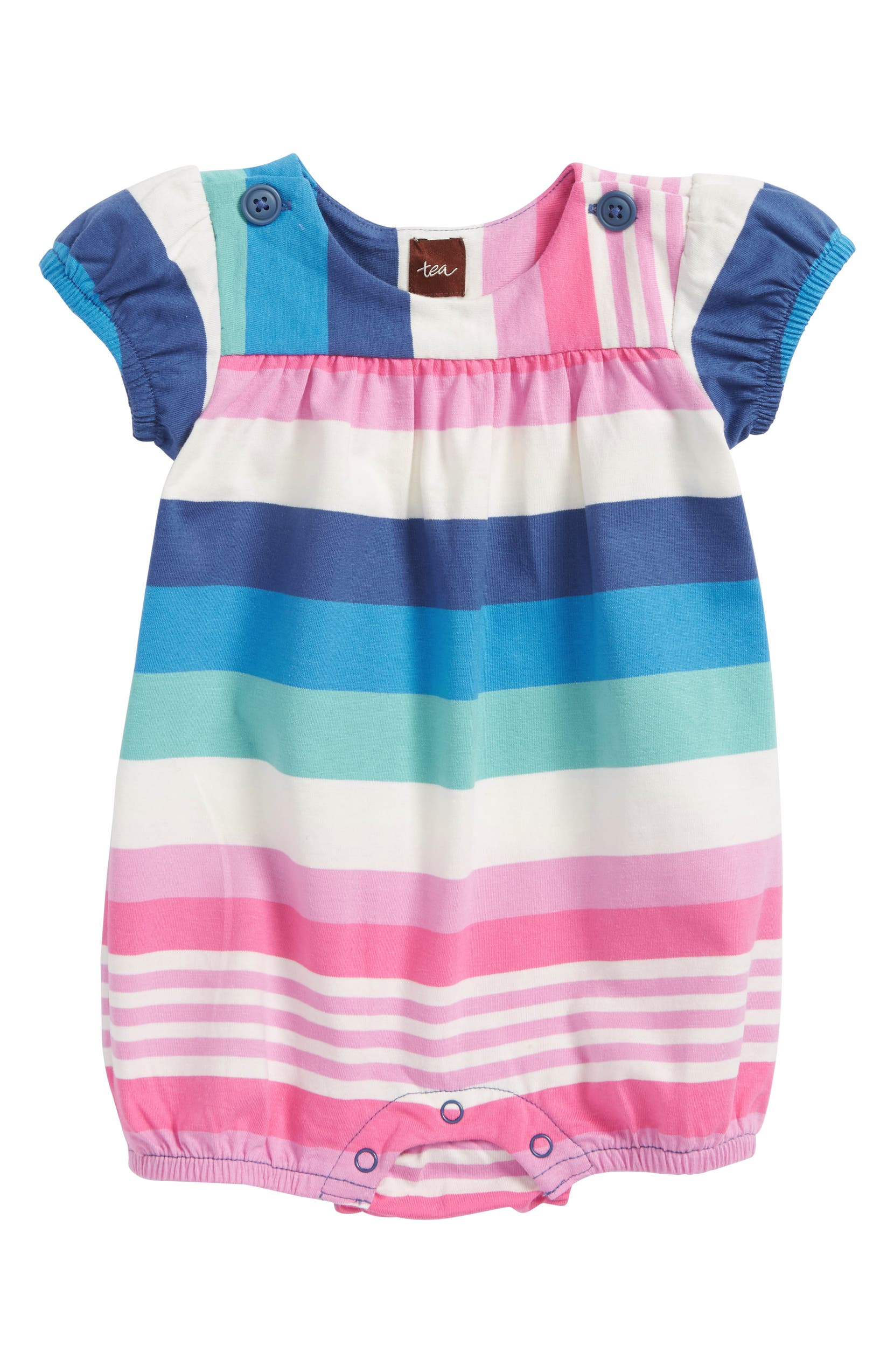 4df96502858 Tea Collection Stripe Bubble Romper (Baby Girls)