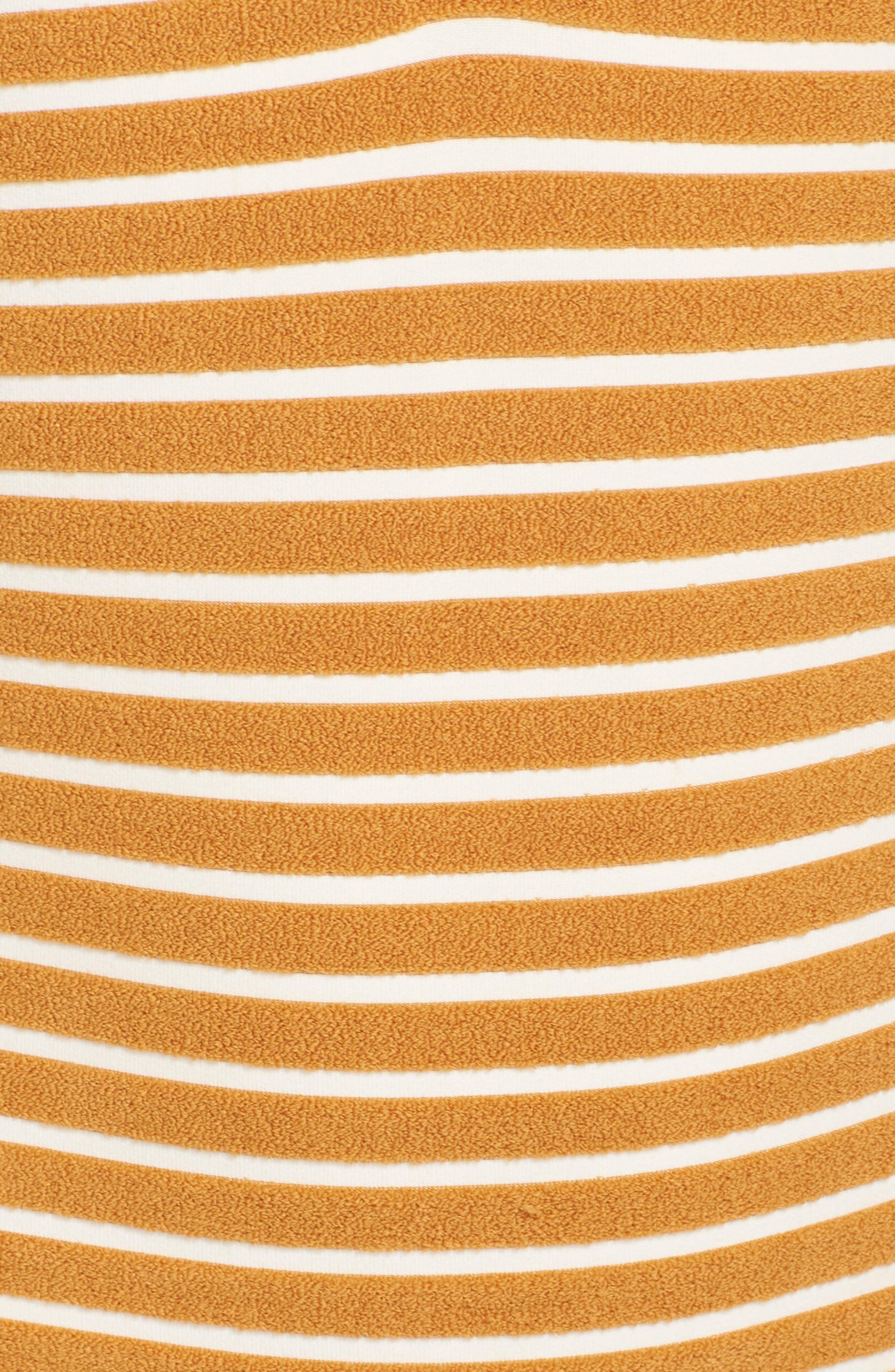 Honey Daze One-Piece Swimsuit,                             Alternate thumbnail 5, color,                             HONEY GOLD