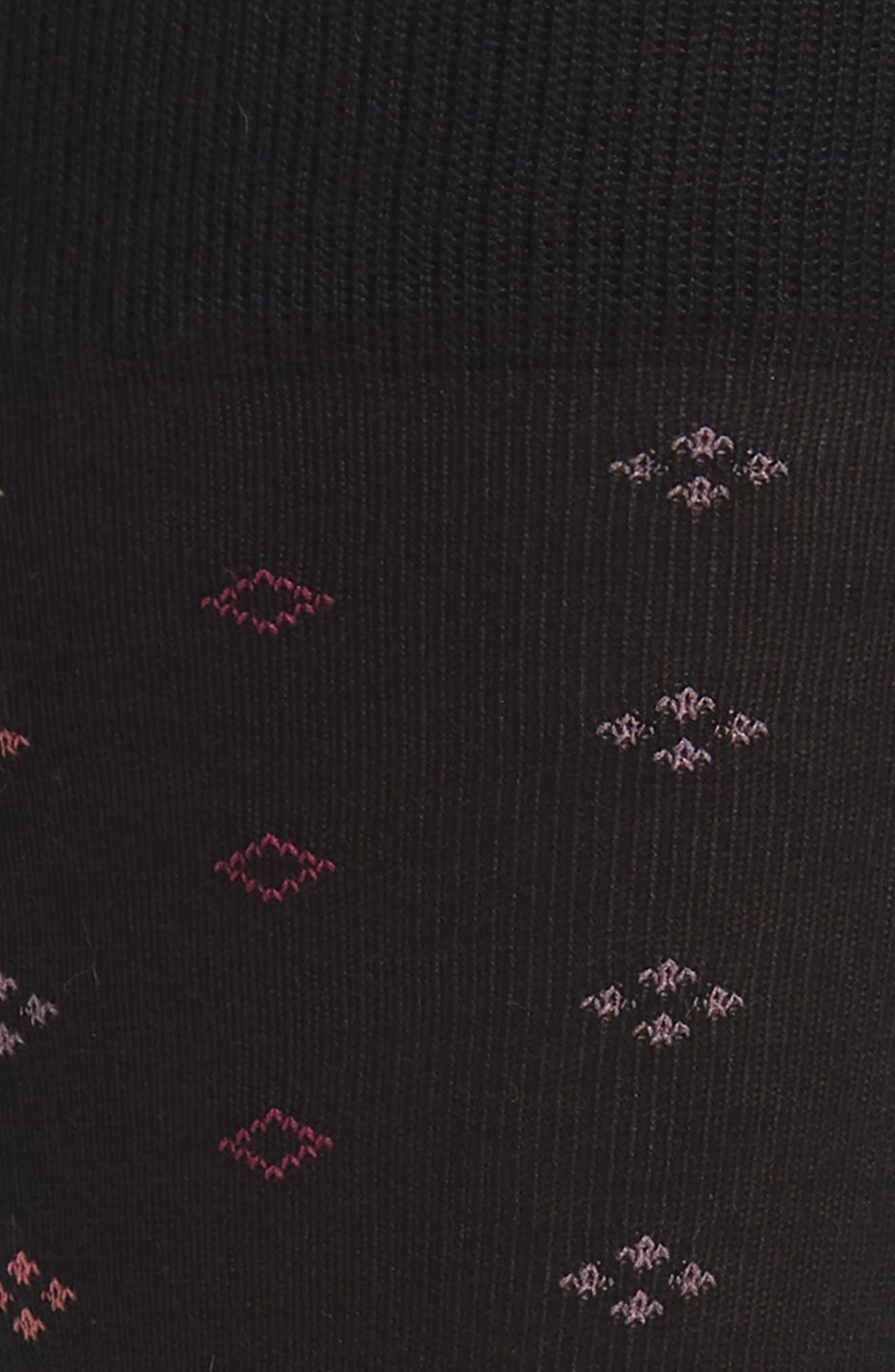 Geometric Socks,                             Alternate thumbnail 2, color,                             BLACK/ PINK