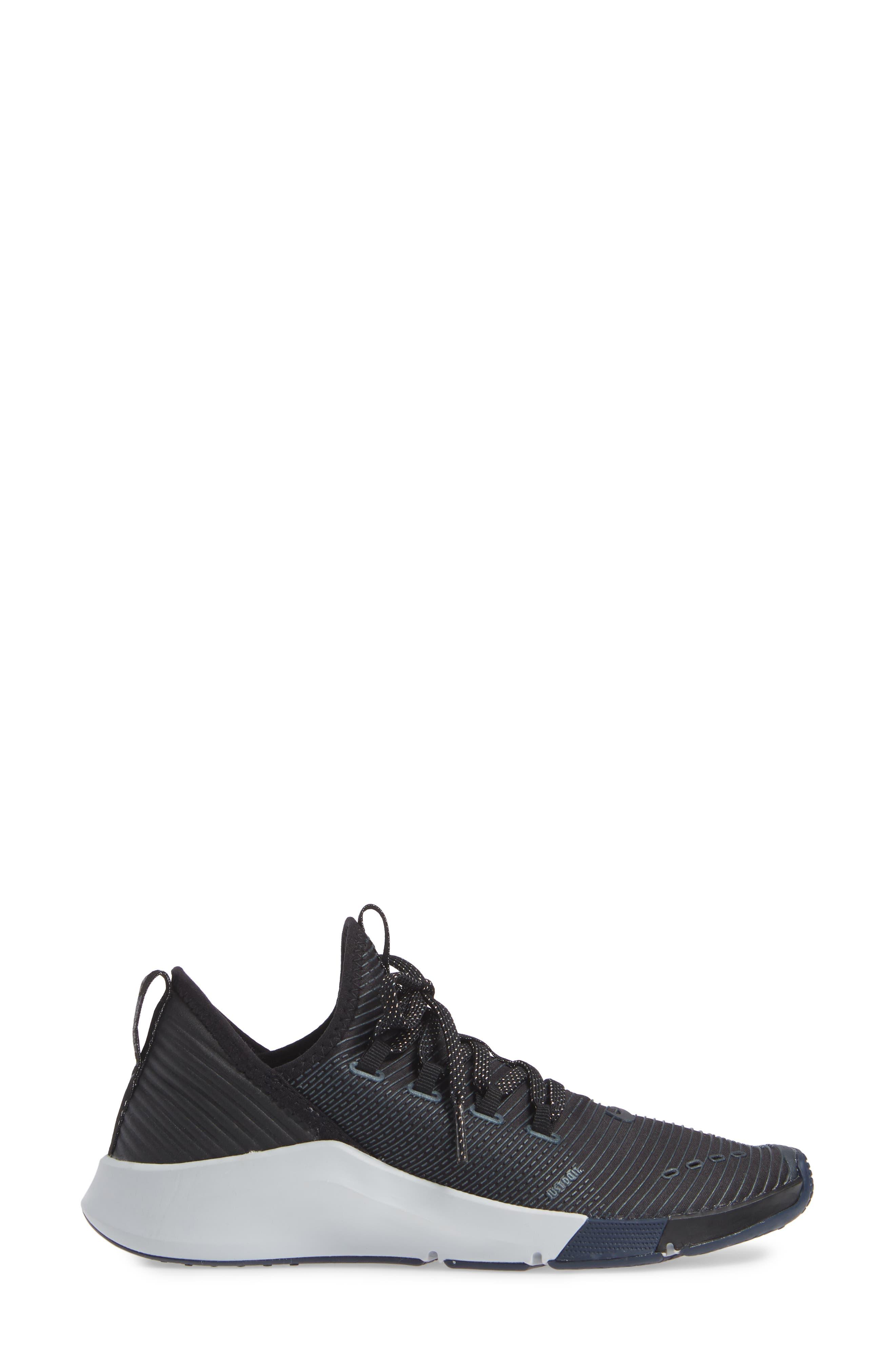 NIKE,                             Air Zoom Elevate Training Shoe,                             Alternate thumbnail 3, color,                             BLACK/ METALLIC NAVY- NAVY