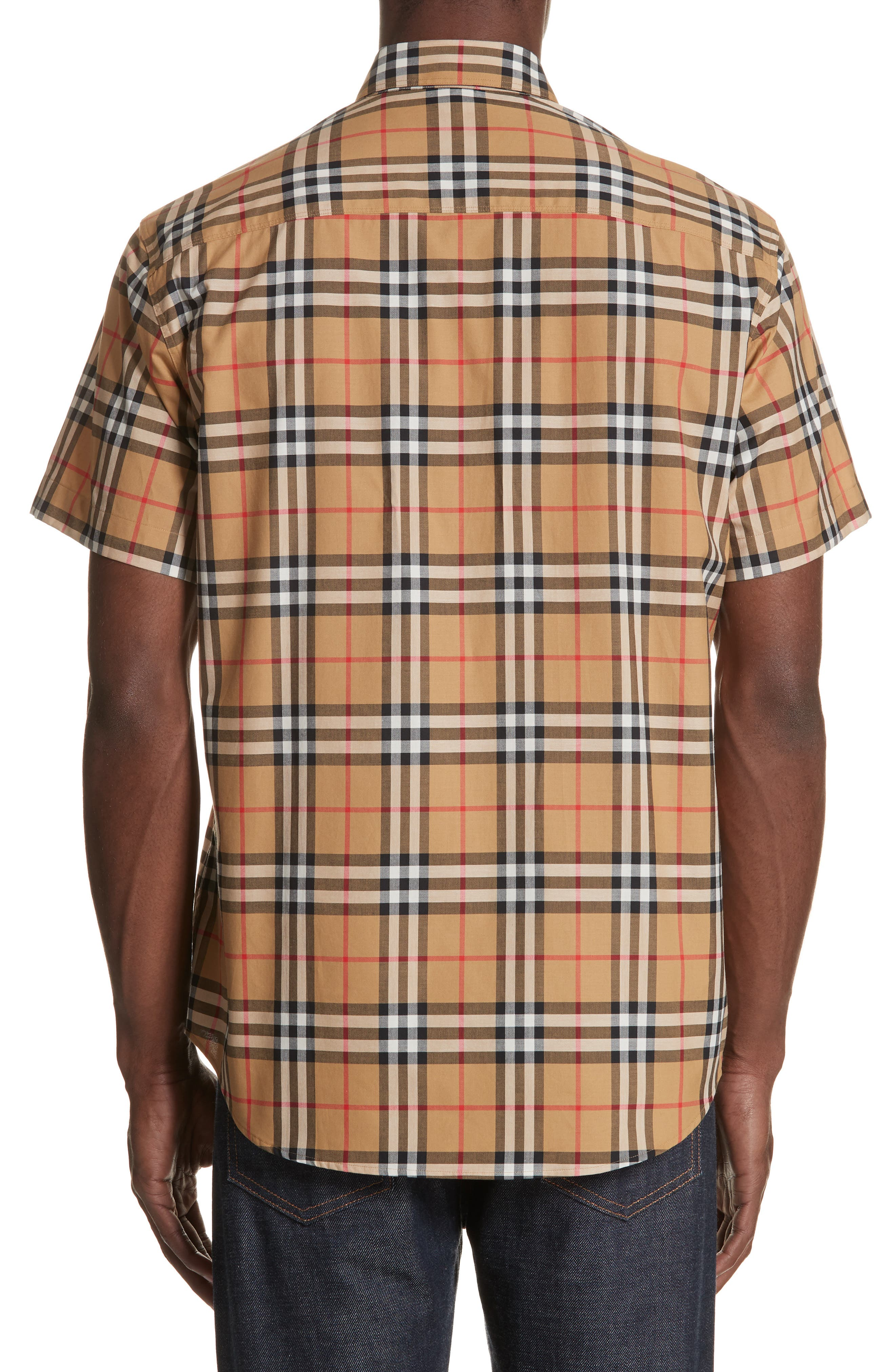 Jameson Woven Check Sport Shirt,                             Alternate thumbnail 2, color,                             ANTIQUE YELLOW