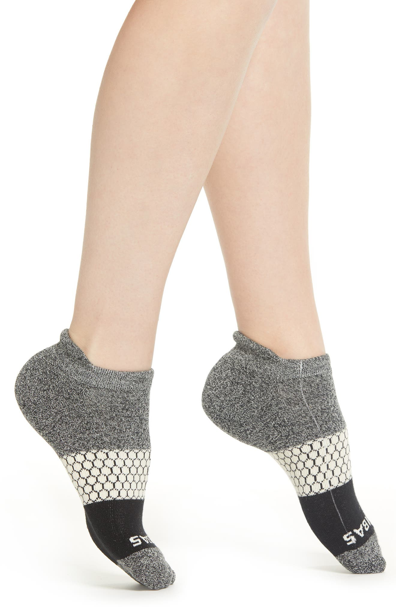 BOMBAS Colorblock Ankle Socks, Main, color, 029