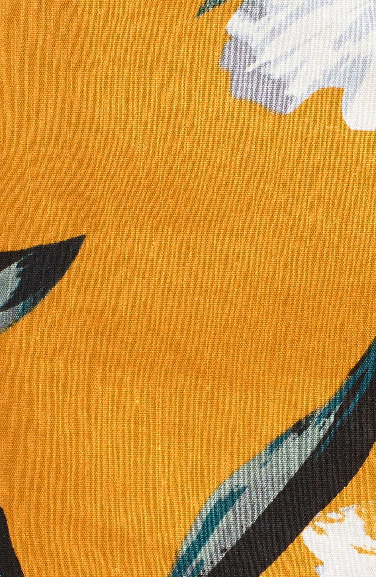 High Waist Linen Blend Shorts,                             Alternate thumbnail 23, color,