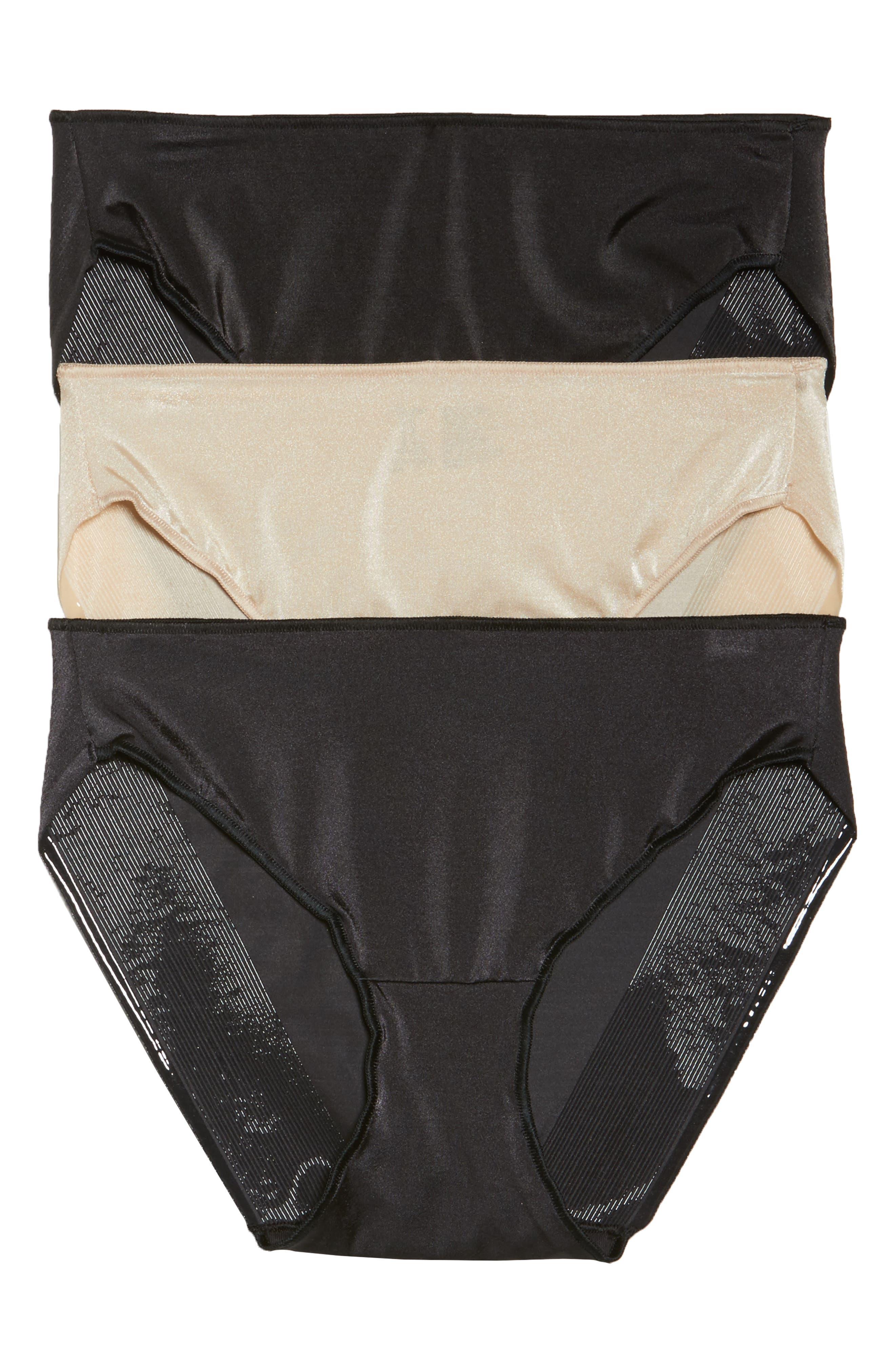 3-Pack Hipster Panties,                         Main,                         color, BLACK/ NUDE
