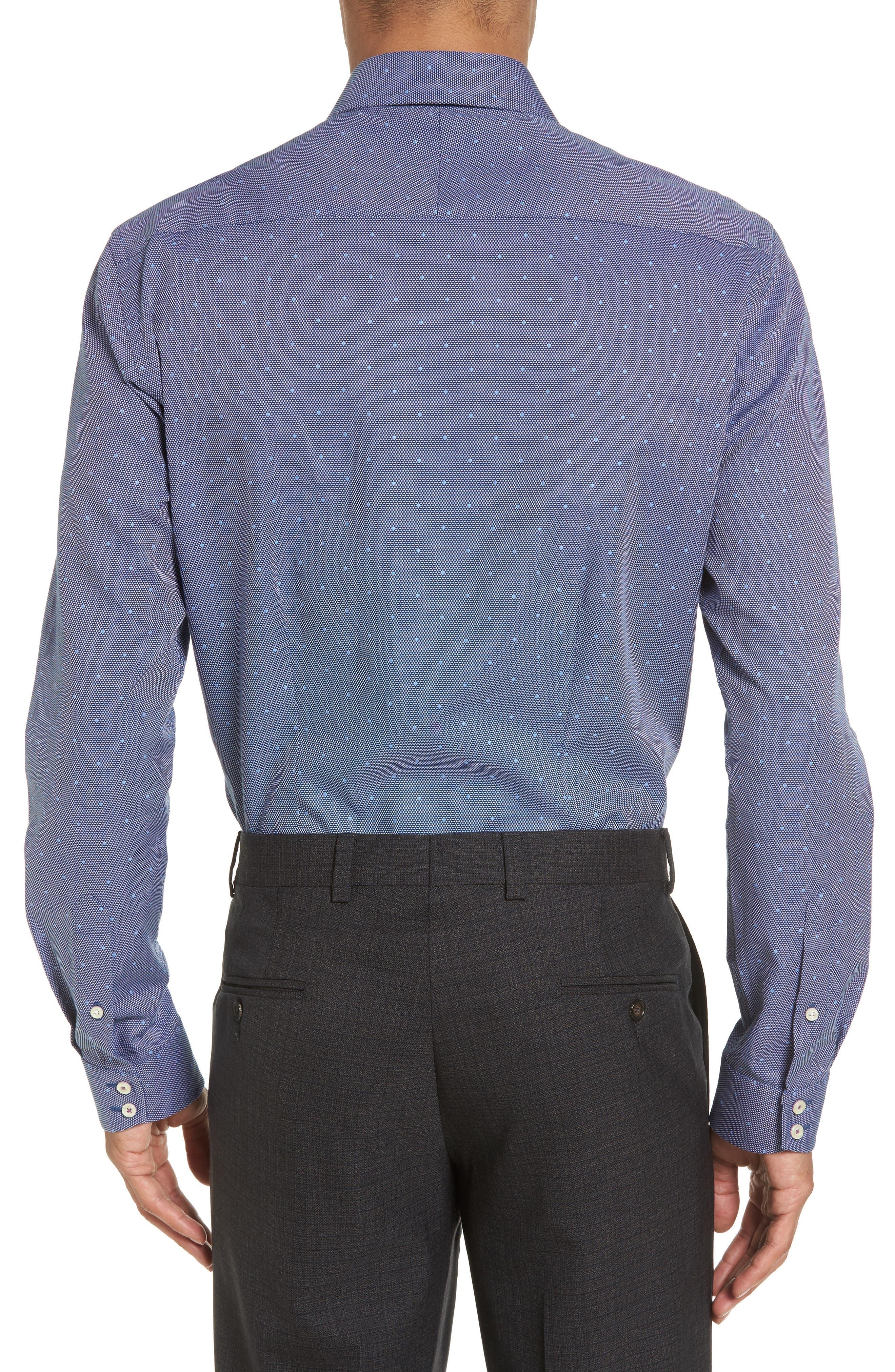 Trim Fit Dot Dress Shirt,                             Alternate thumbnail 2, color,                             410