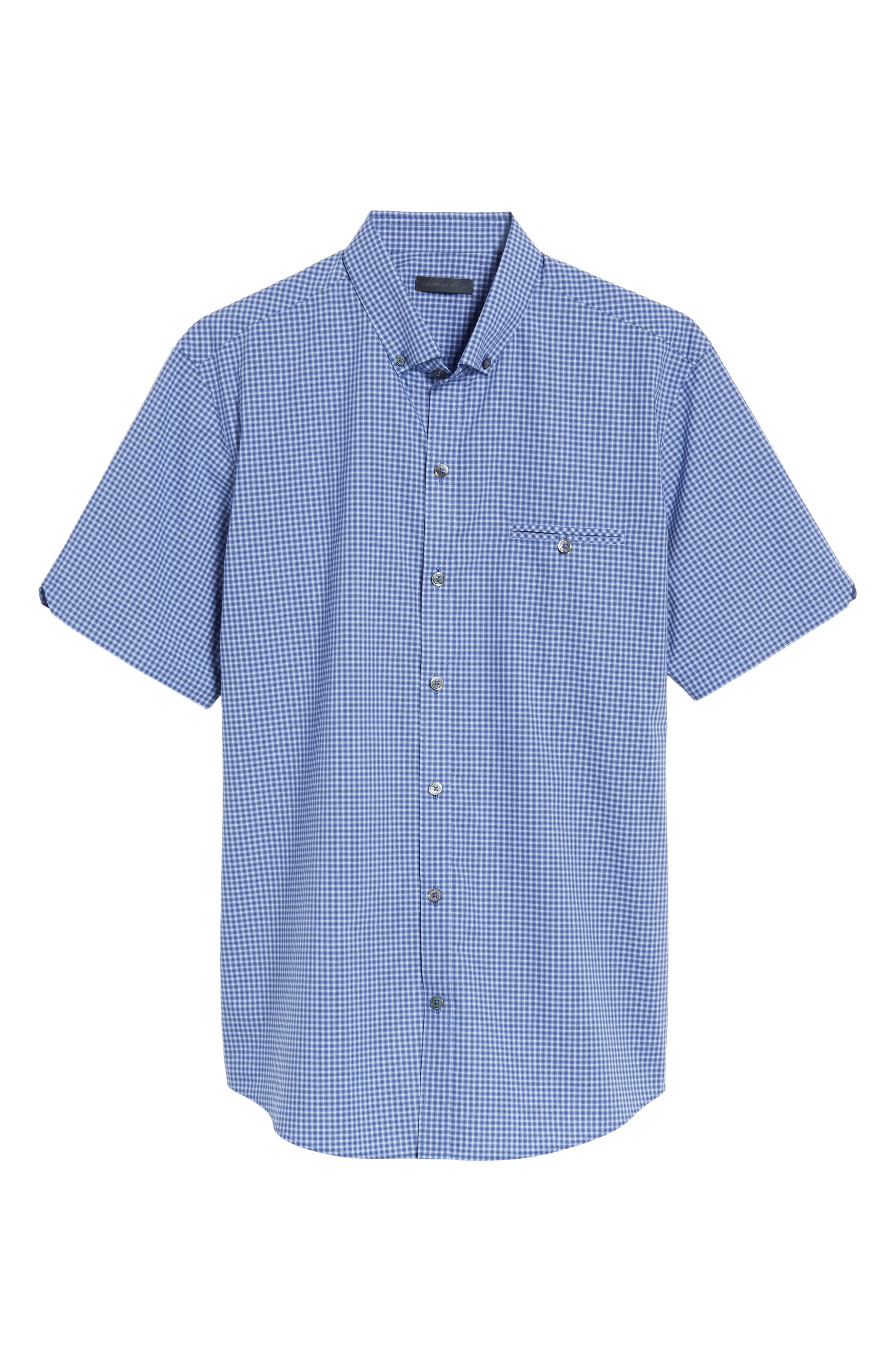 Ahmed Slim Fit Plaid Sport Shirt,                             Alternate thumbnail 12, color,