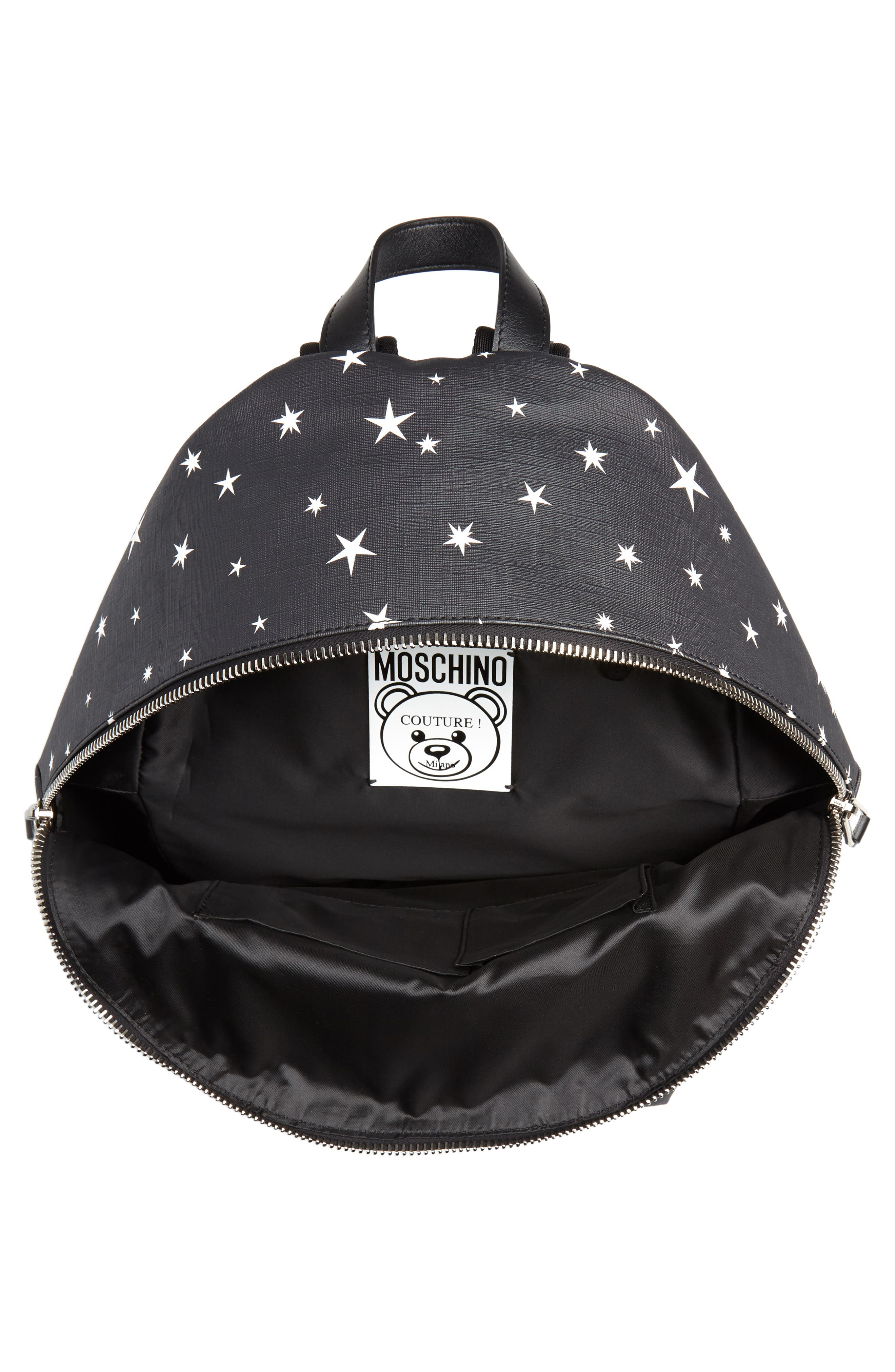 UFO Teddy Bear Faux Leather Backpack,                             Alternate thumbnail 4, color,                             001