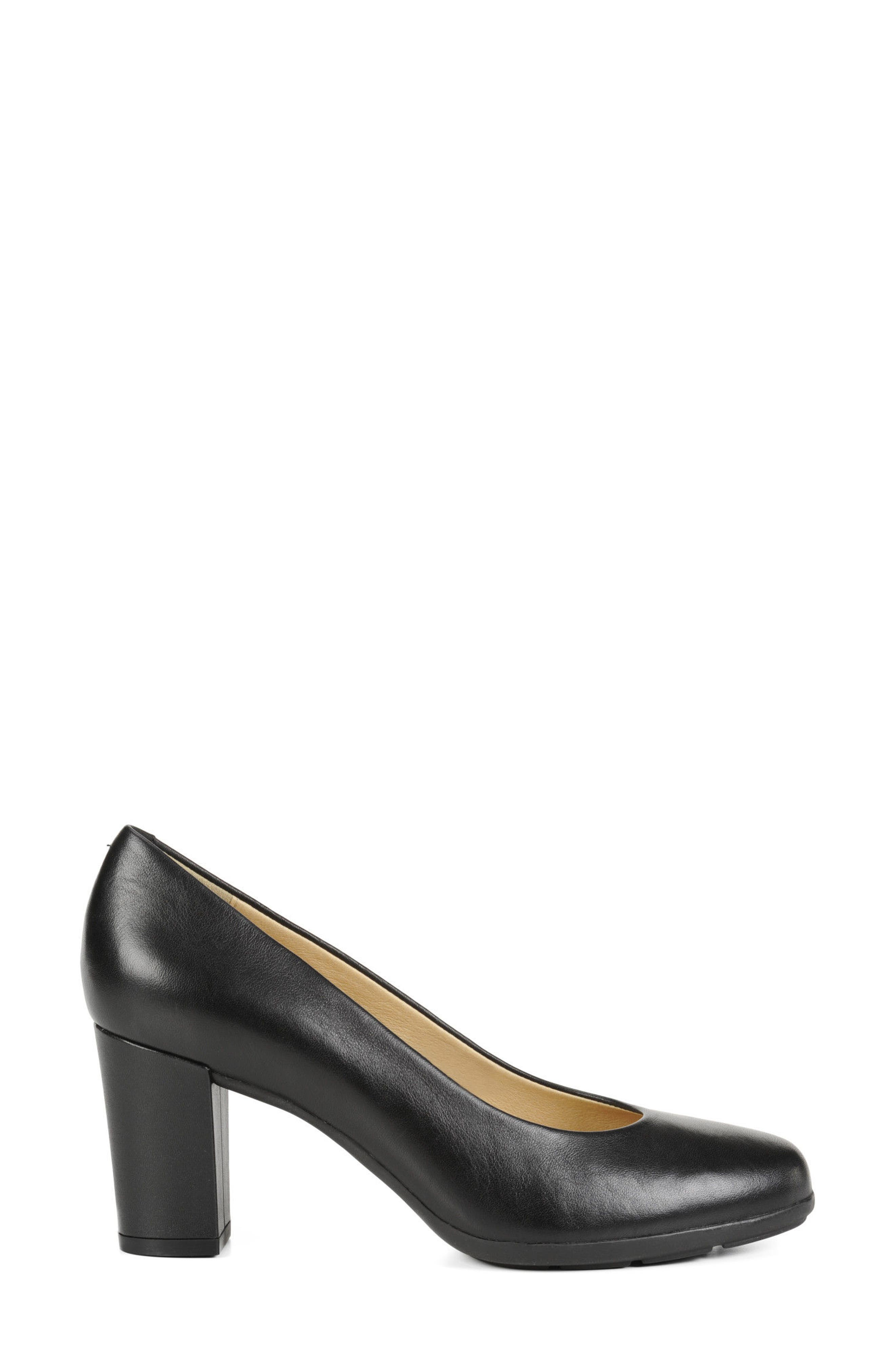 Annya Pump,                             Alternate thumbnail 3, color,                             BLACK NAPPA LEATHER