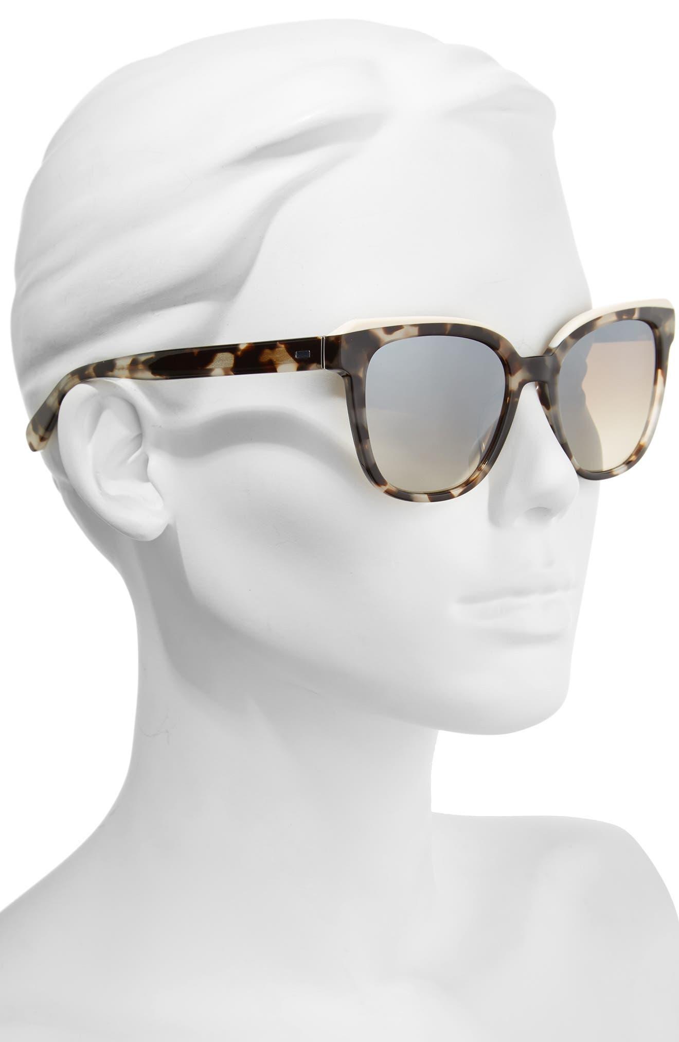 The Bardot 53mm Gradient Sunglasses,                             Alternate thumbnail 5, color,