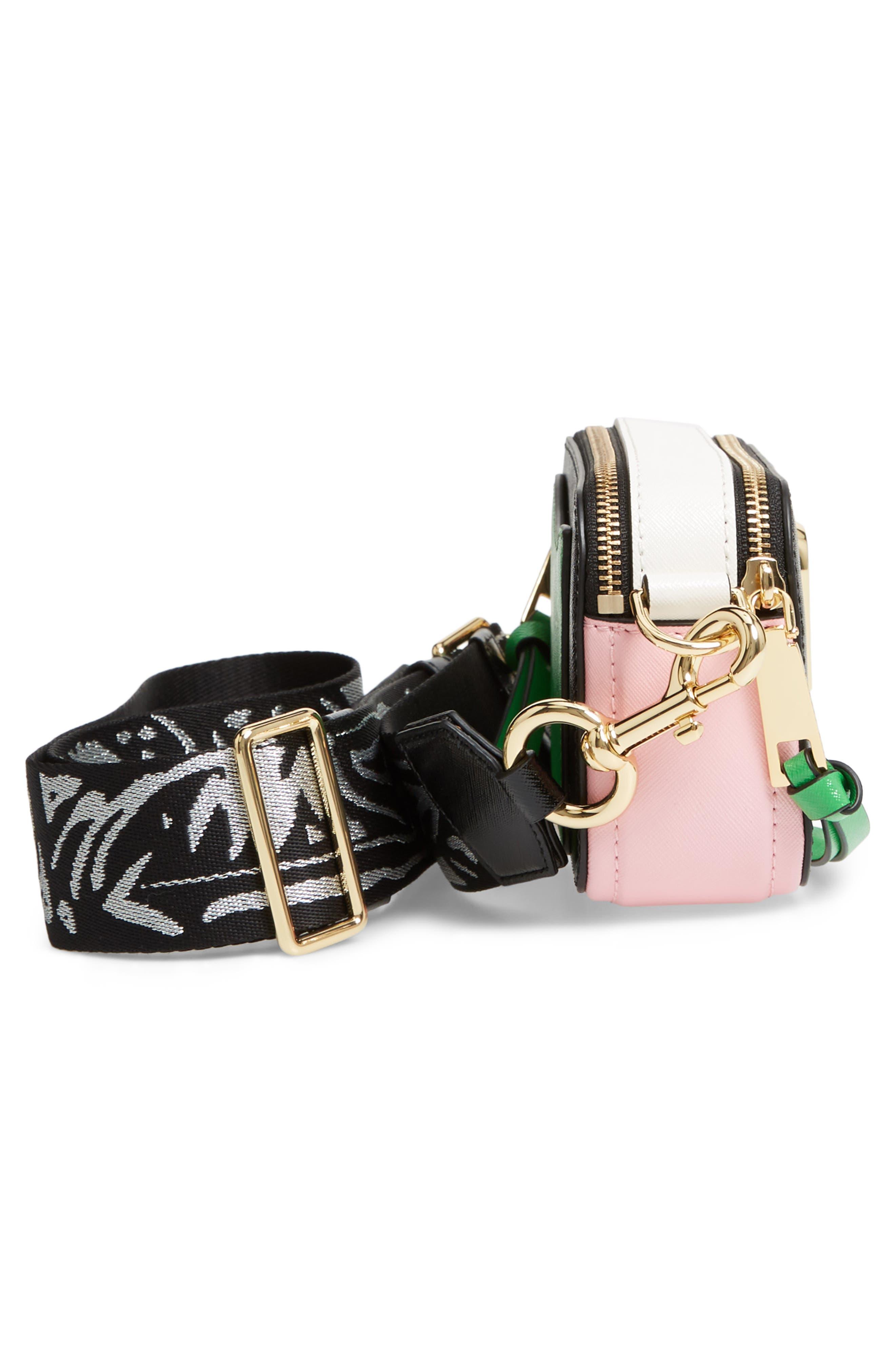 Snapshot Crossbody Bag,                             Alternate thumbnail 5, color,                             BLACK/ BABY PINK