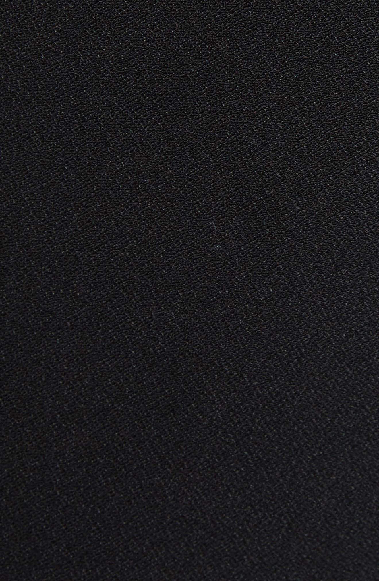 Pana One-Shoulder Peplum Sheath Dress,                             Alternate thumbnail 5, color,                             001