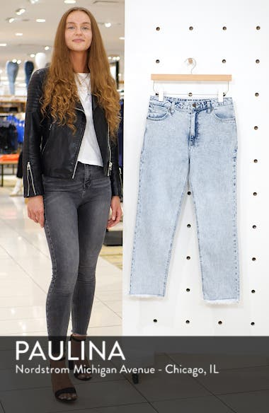 Acid Wash High Waist Crop Jeans, sales video thumbnail