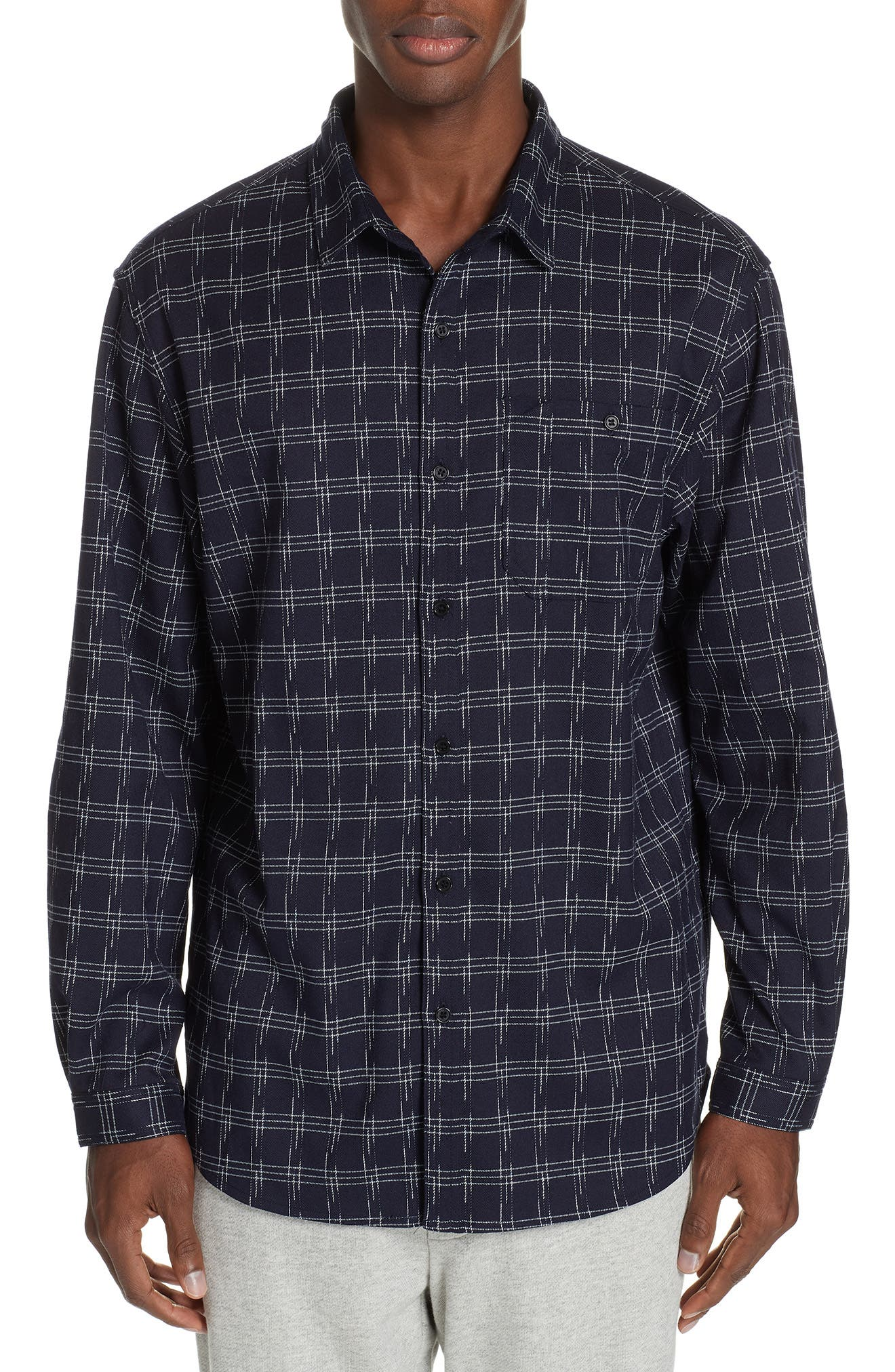 STAMPD Core Flannel Shirt in Dusty Blue