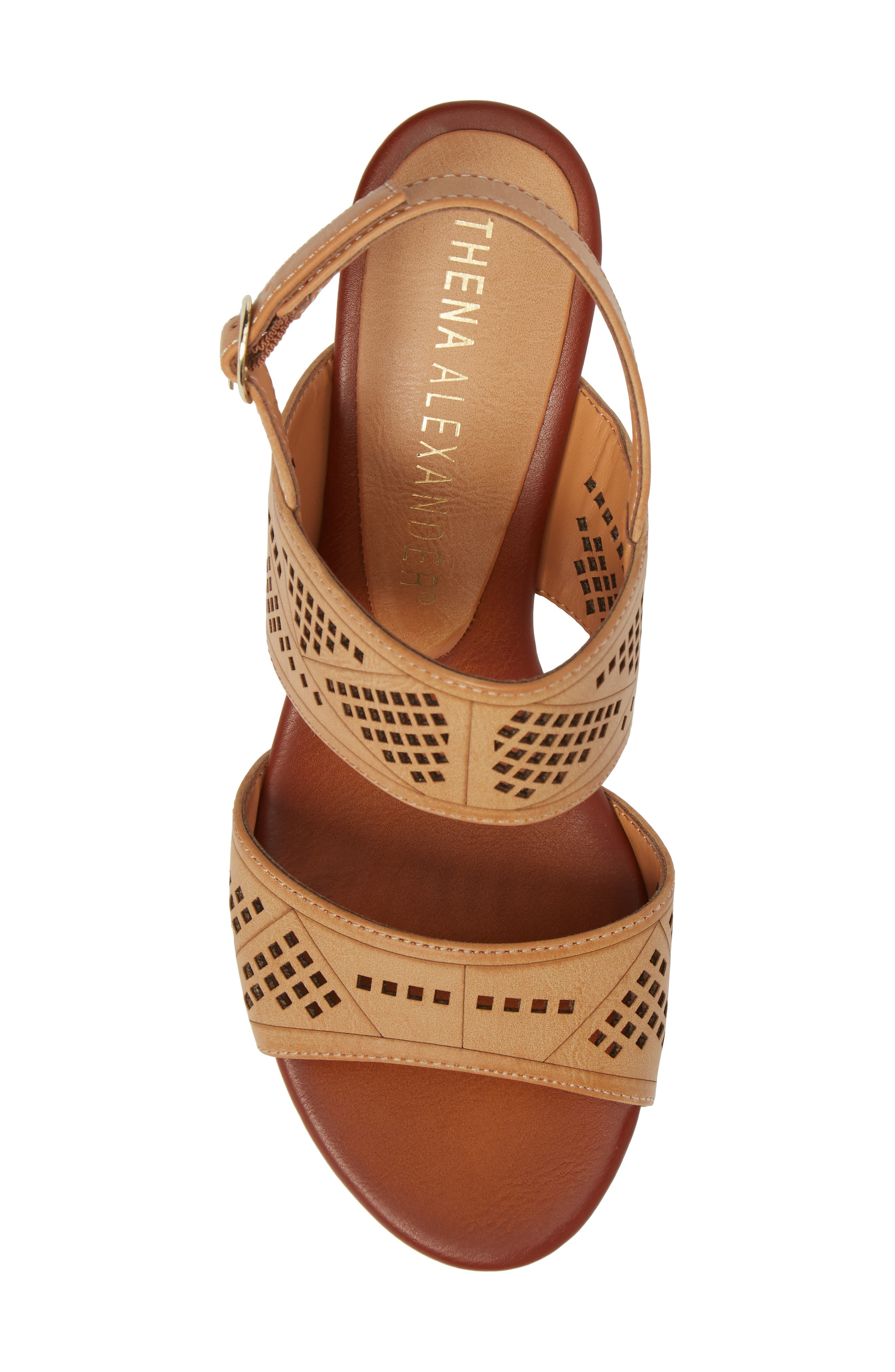 Sparce Perforated Wedge Sandal,                             Alternate thumbnail 10, color,