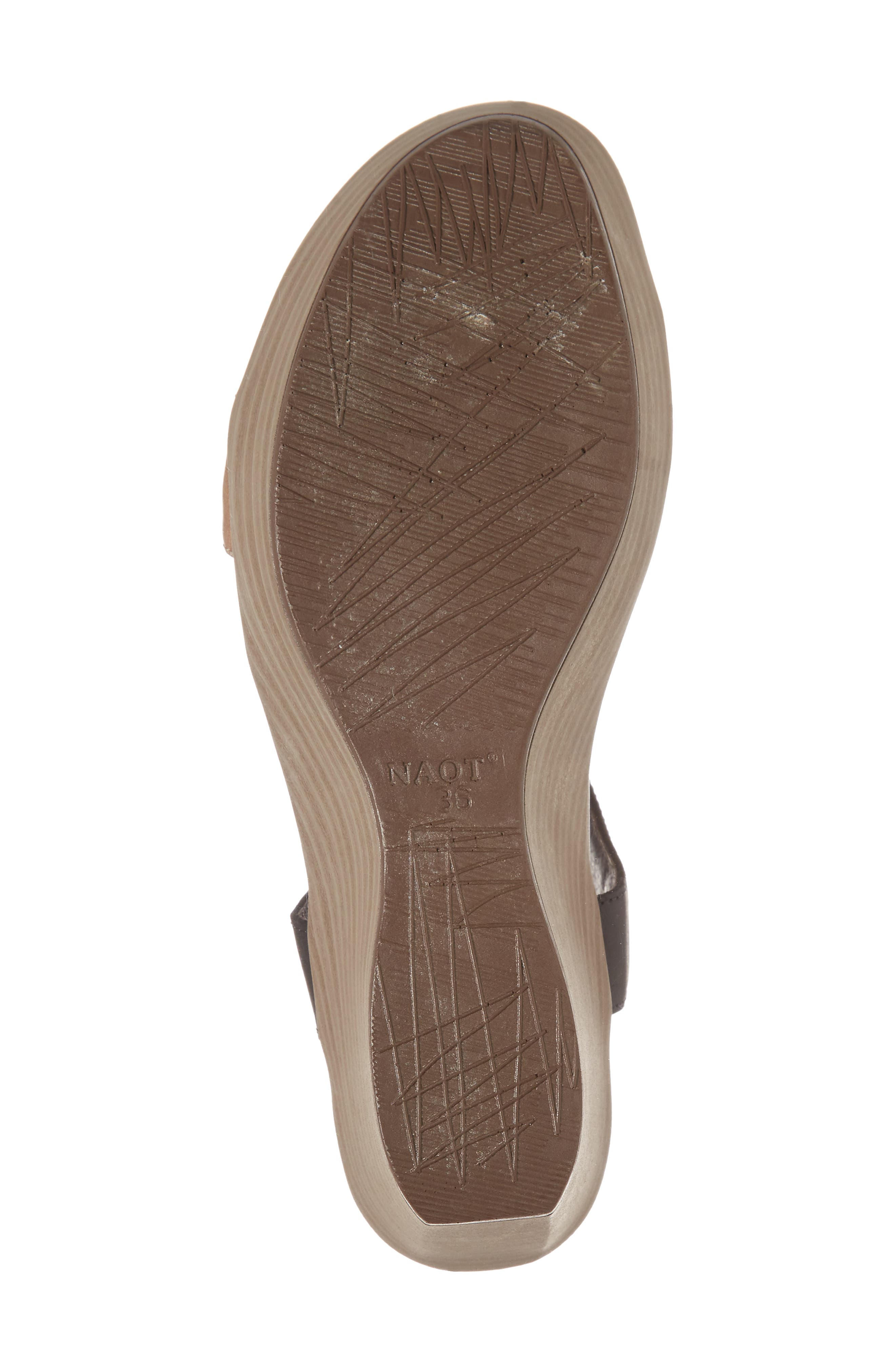 Caprice Wedge Sandal,                             Alternate thumbnail 6, color,                             TAN LEATHER