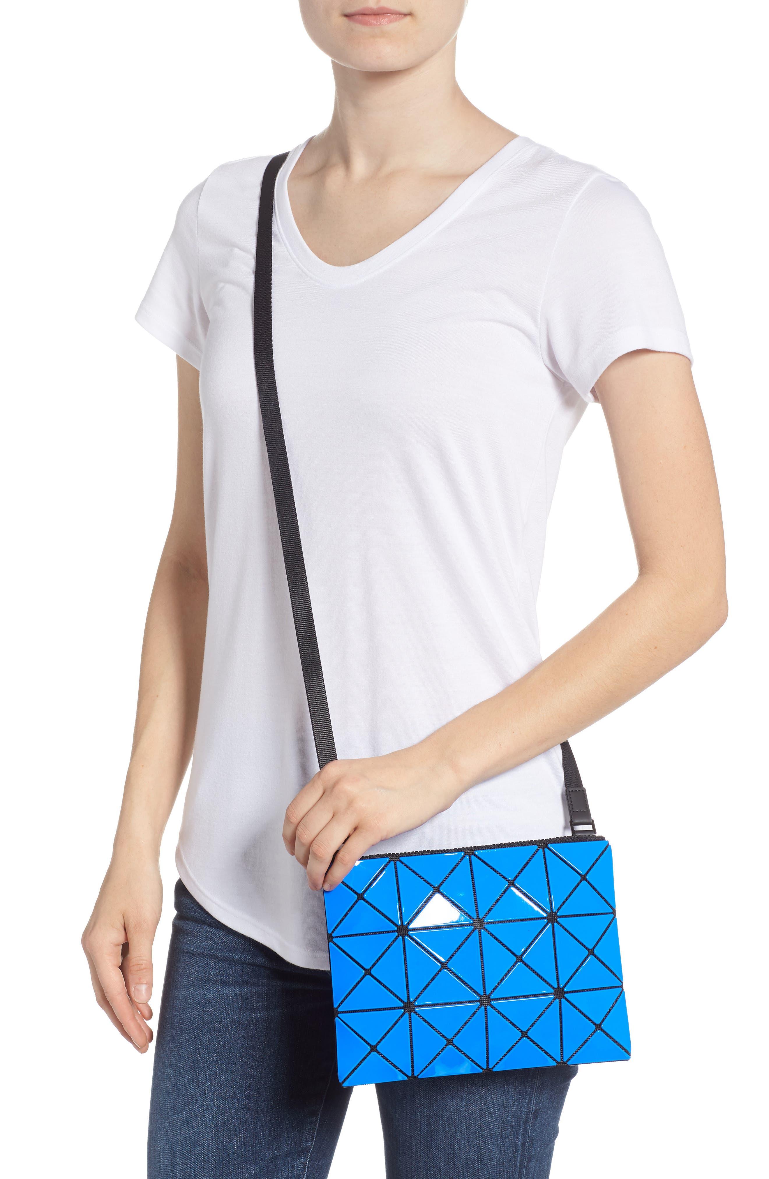 Lucent Two-Tone Crossbody Bag,                             Alternate thumbnail 2, color,                             BLUE/ DARK BLUE