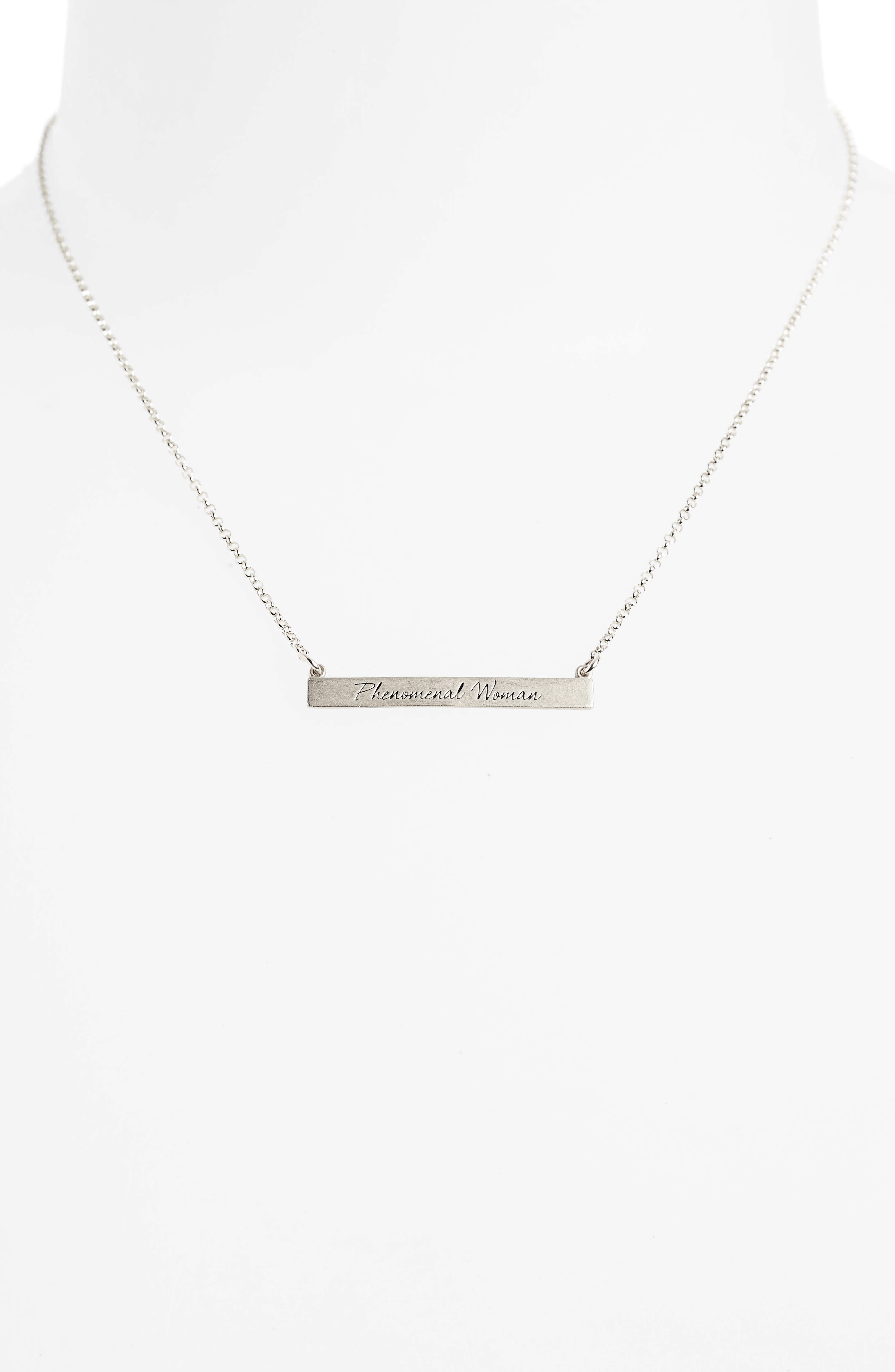 Legacy Collection - Phenomenal Women Bar Necklace,                             Alternate thumbnail 2, color,                             040