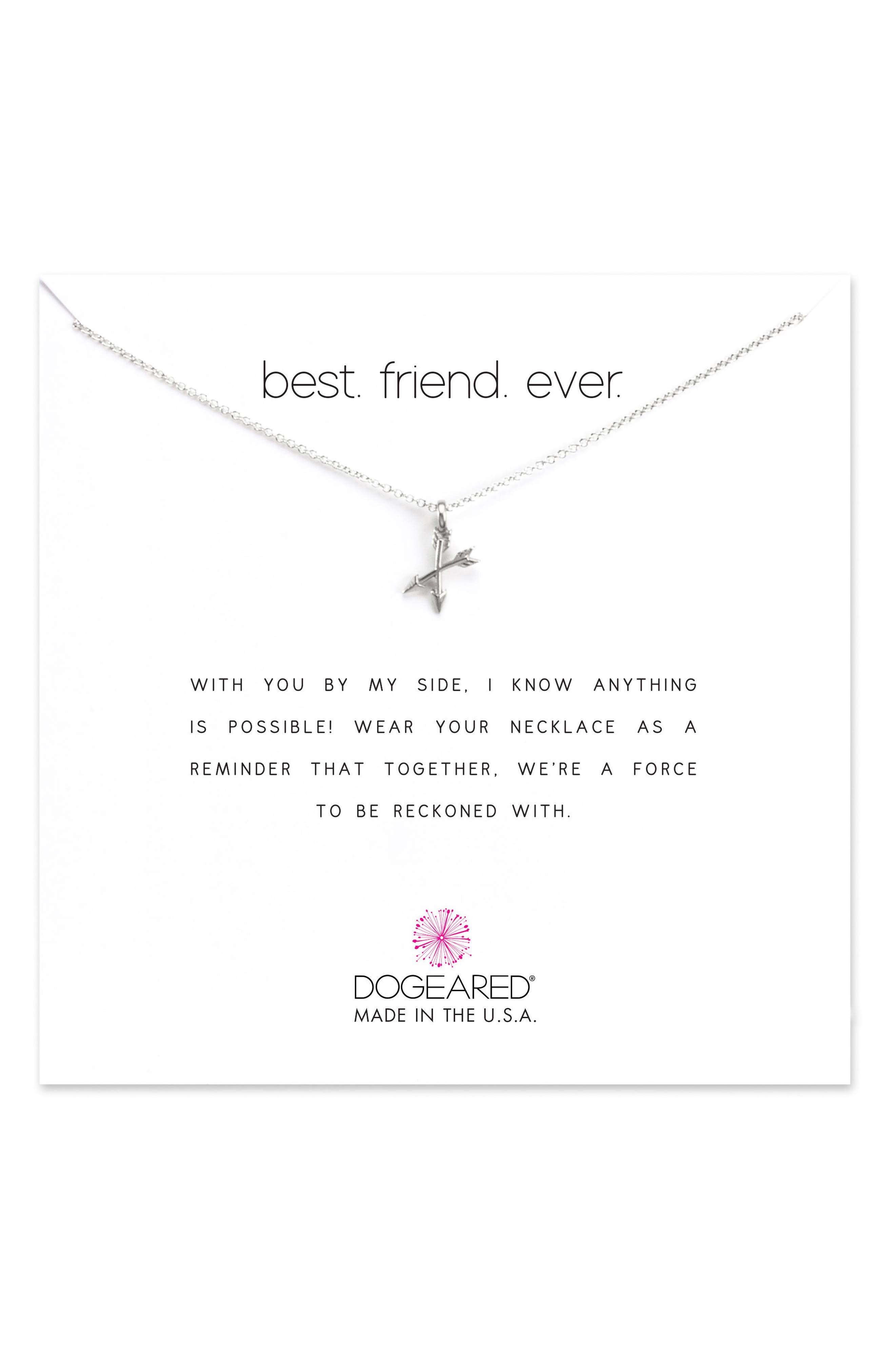Best Friend Ever Pendant Necklace,                             Main thumbnail 1, color,