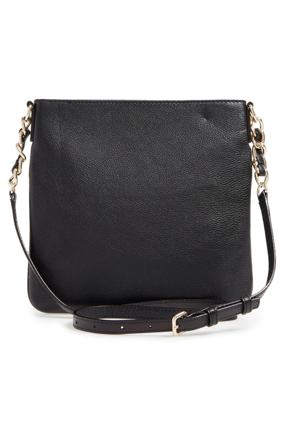 'cobble hill - ellen' leather crossbody bag,                             Alternate thumbnail 8, color,                             001