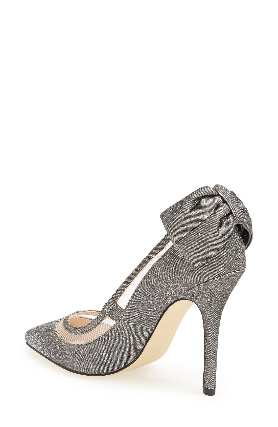 'Crusy' Glitter Pointy Toe Pump,                             Alternate thumbnail 3, color,                             020