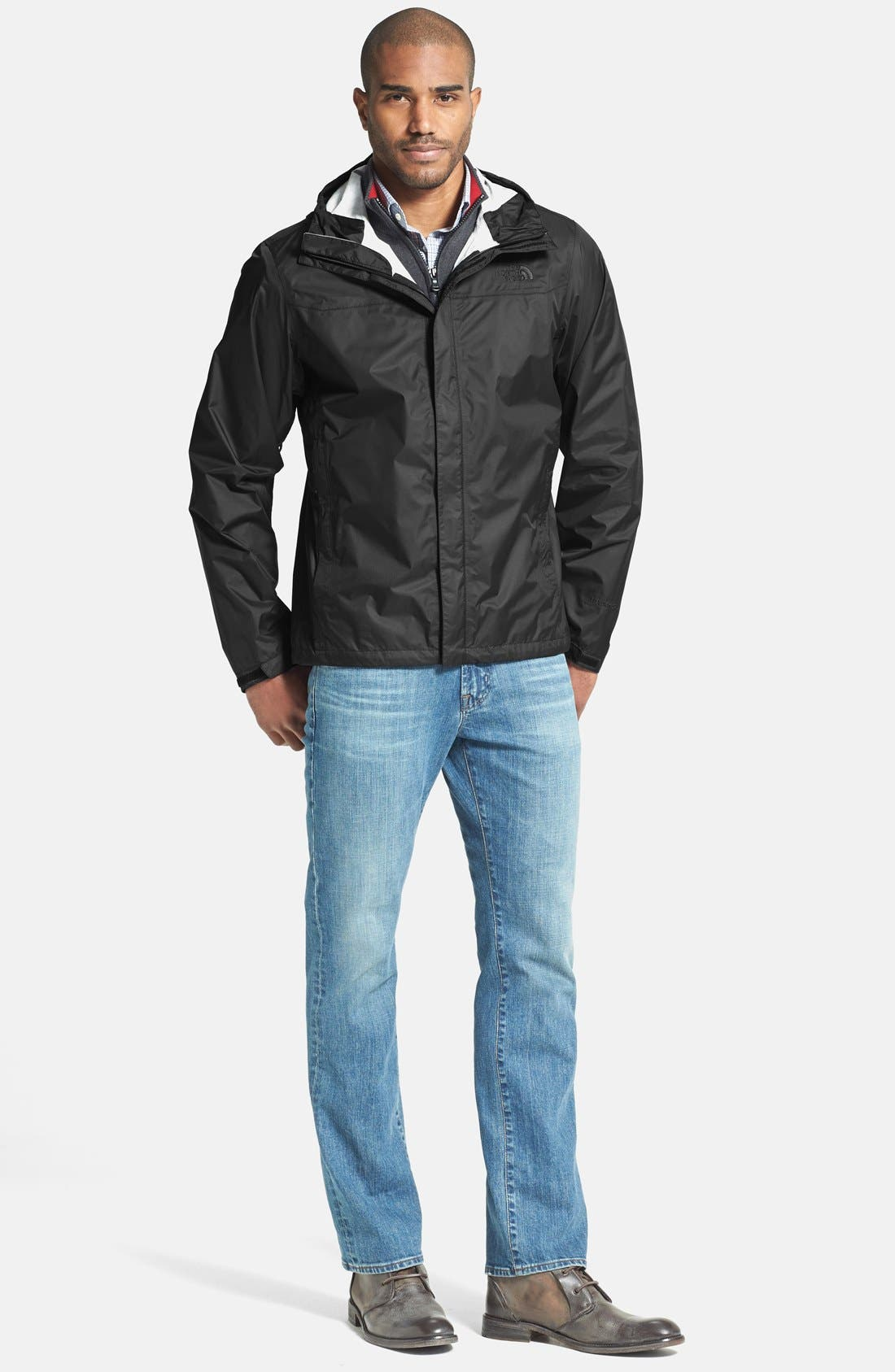 THE NORTH FACE,                             Venture Waterproof Jacket,                             Alternate thumbnail 6, color,                             001
