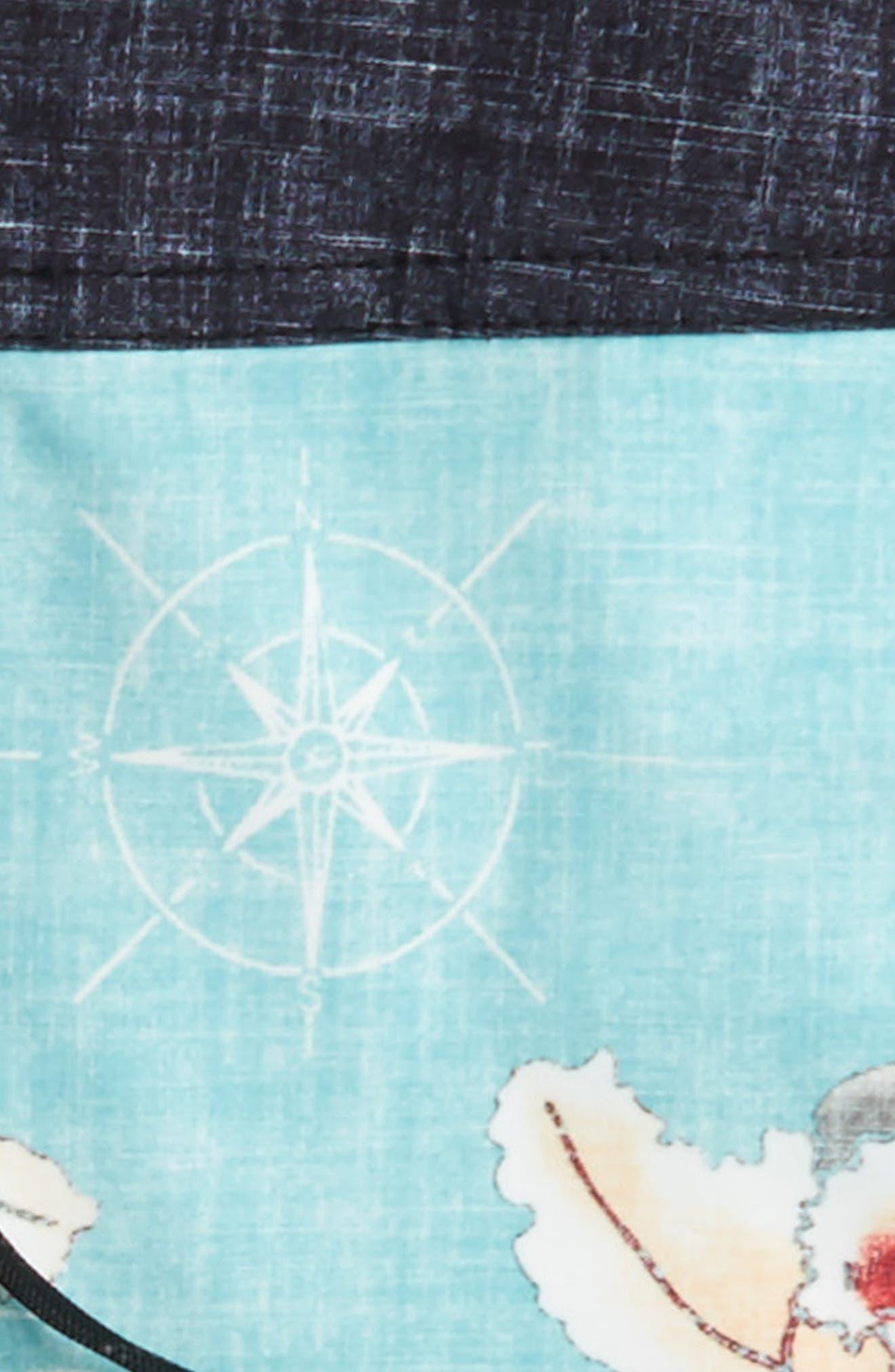 Hawaii Floral Board Shorts,                             Alternate thumbnail 3, color,                             400