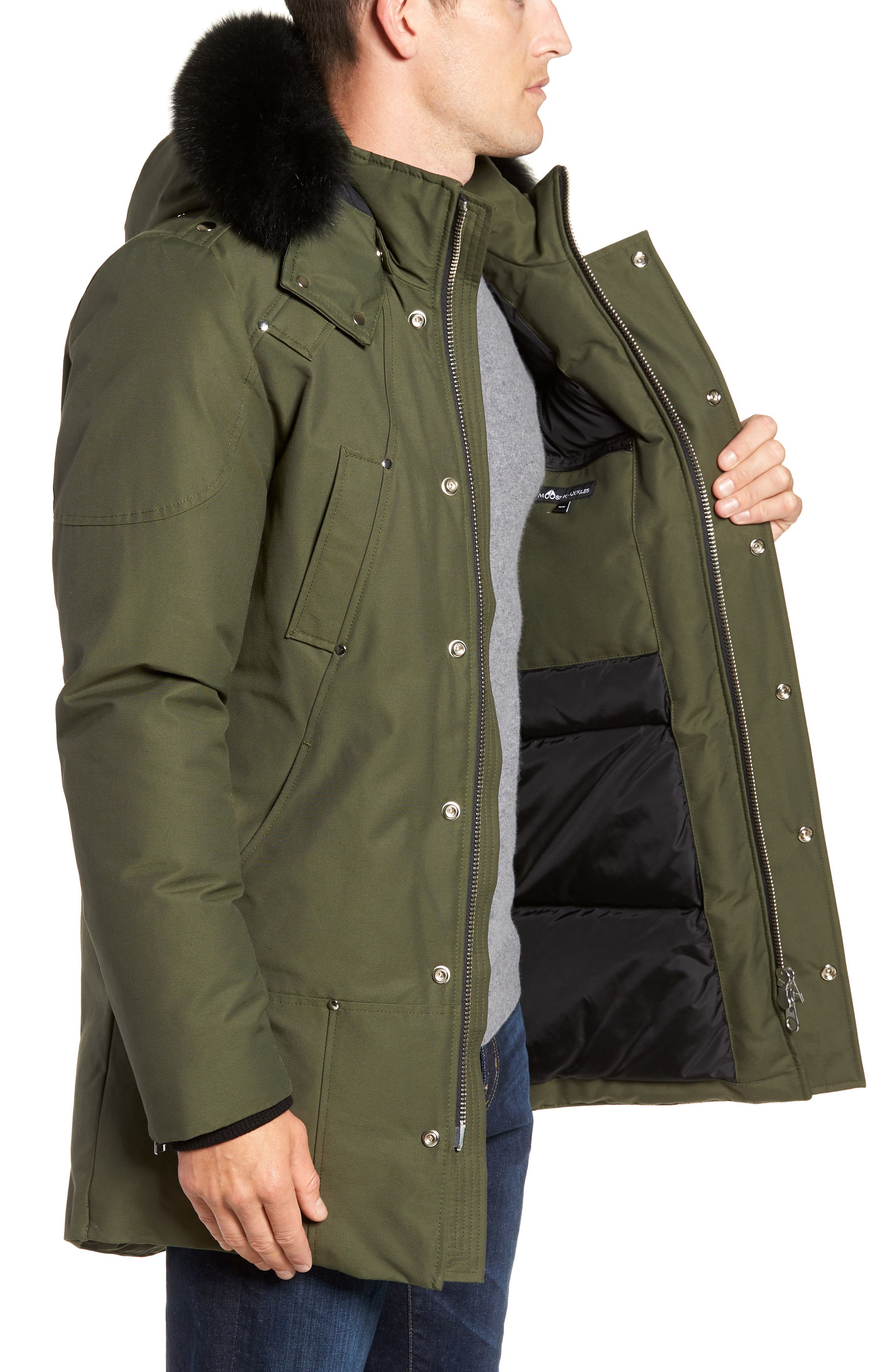 Stirling Water Repellent Down Parka with Genuine Fox Fur Trim,                             Alternate thumbnail 11, color,