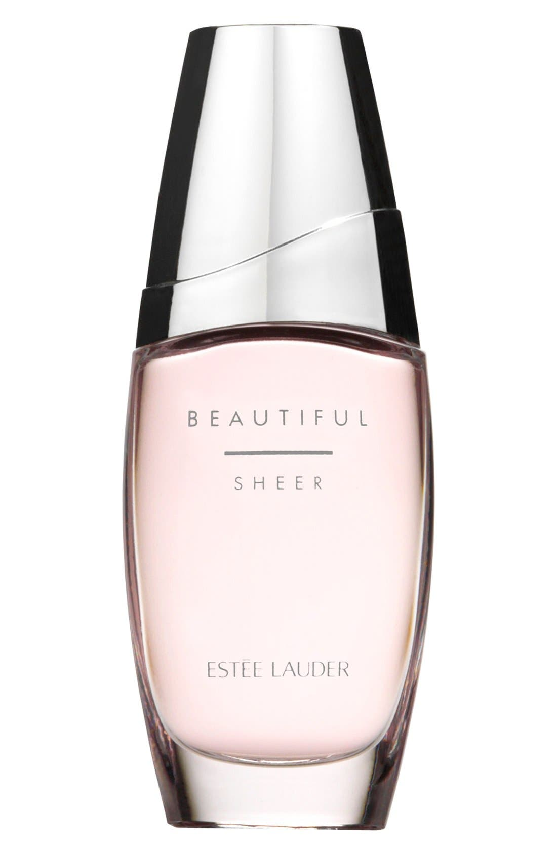 Beautiful Sheer Eau de Parfum Spray,                             Main thumbnail 1, color,
