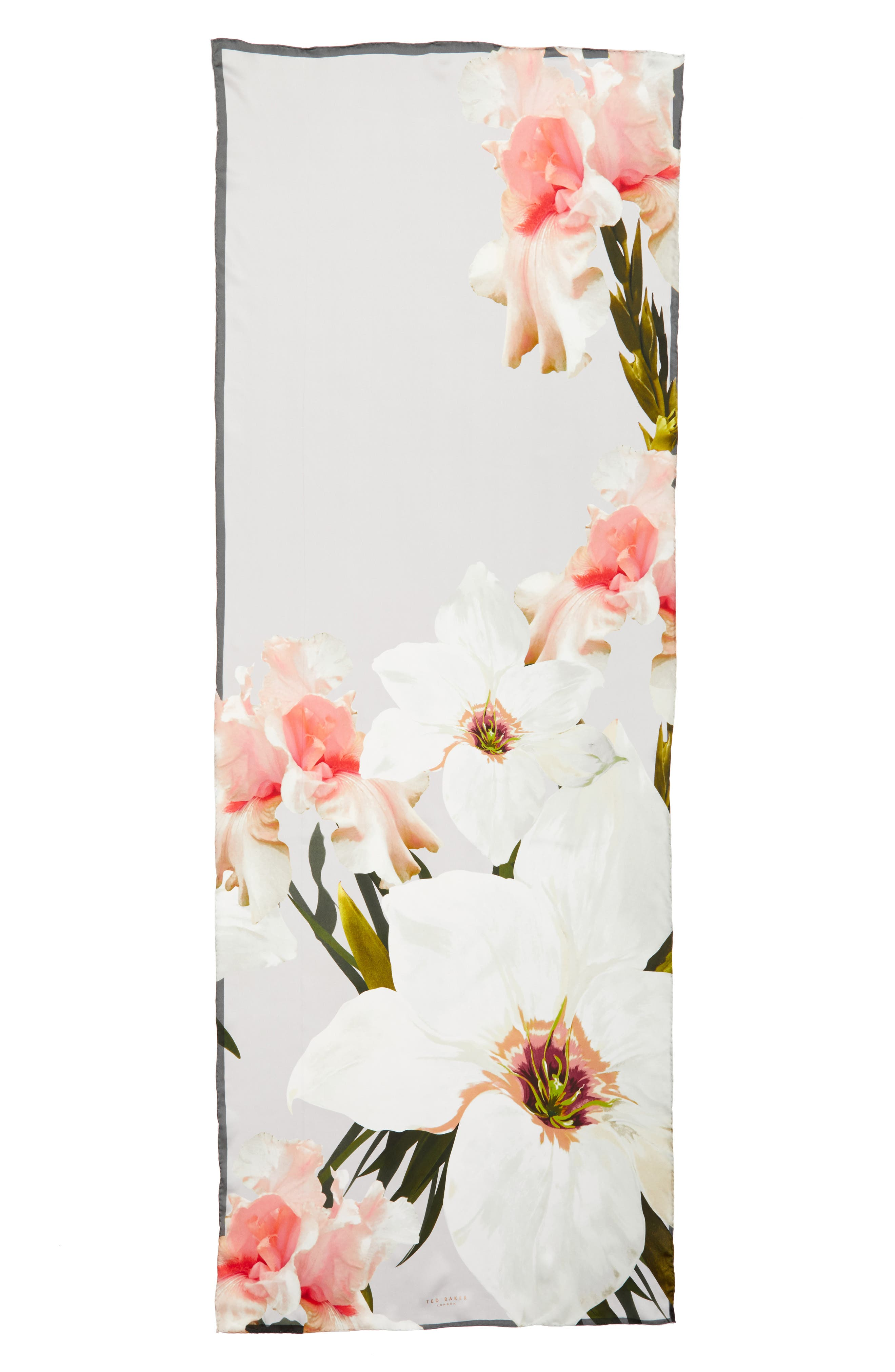 Chatsworth Blossom Silk Scarf,                             Alternate thumbnail 3, color,