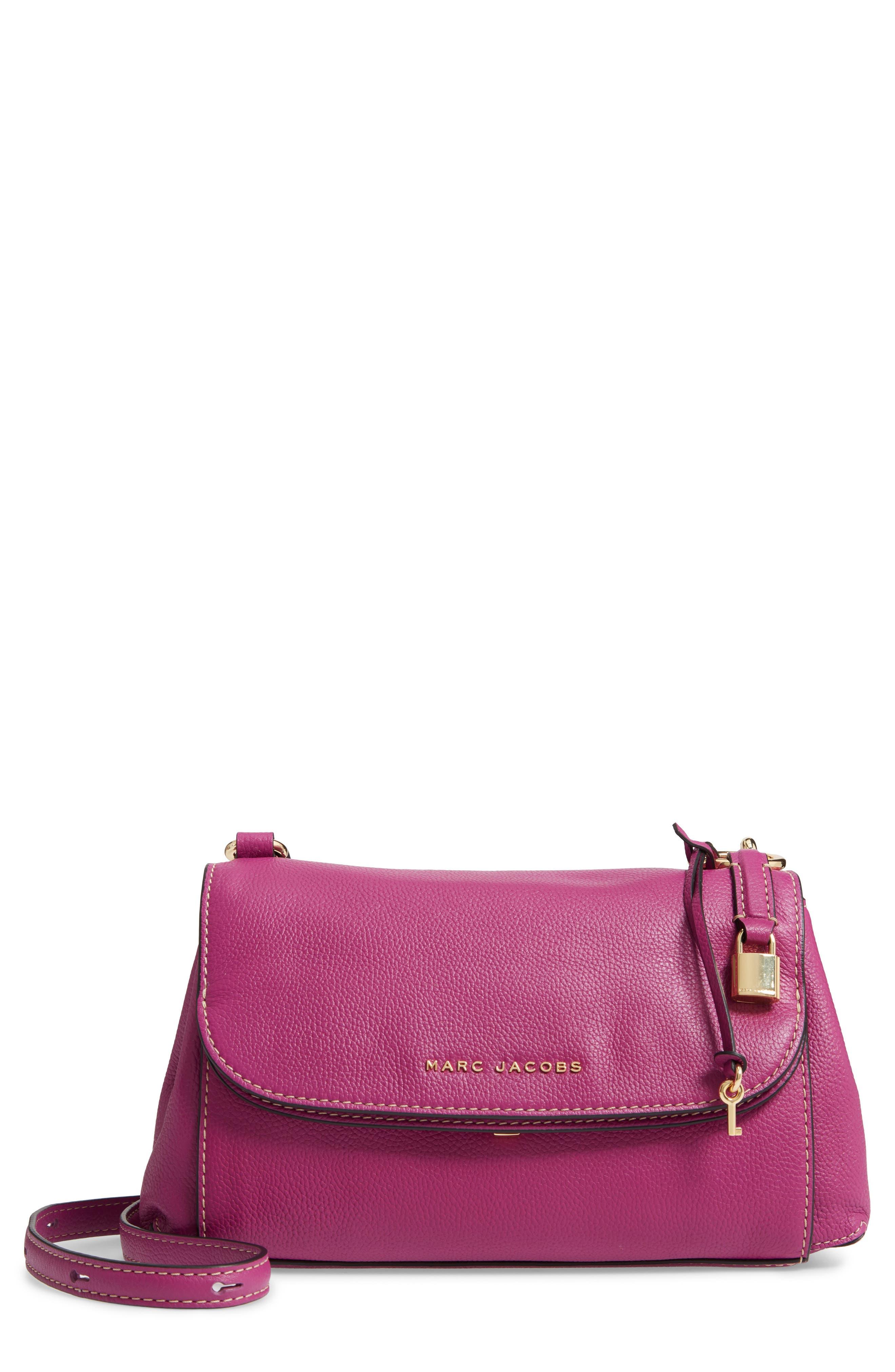 The Grind Boho Leather Shoulder Bag,                             Main thumbnail 1, color,                             RHUBARB