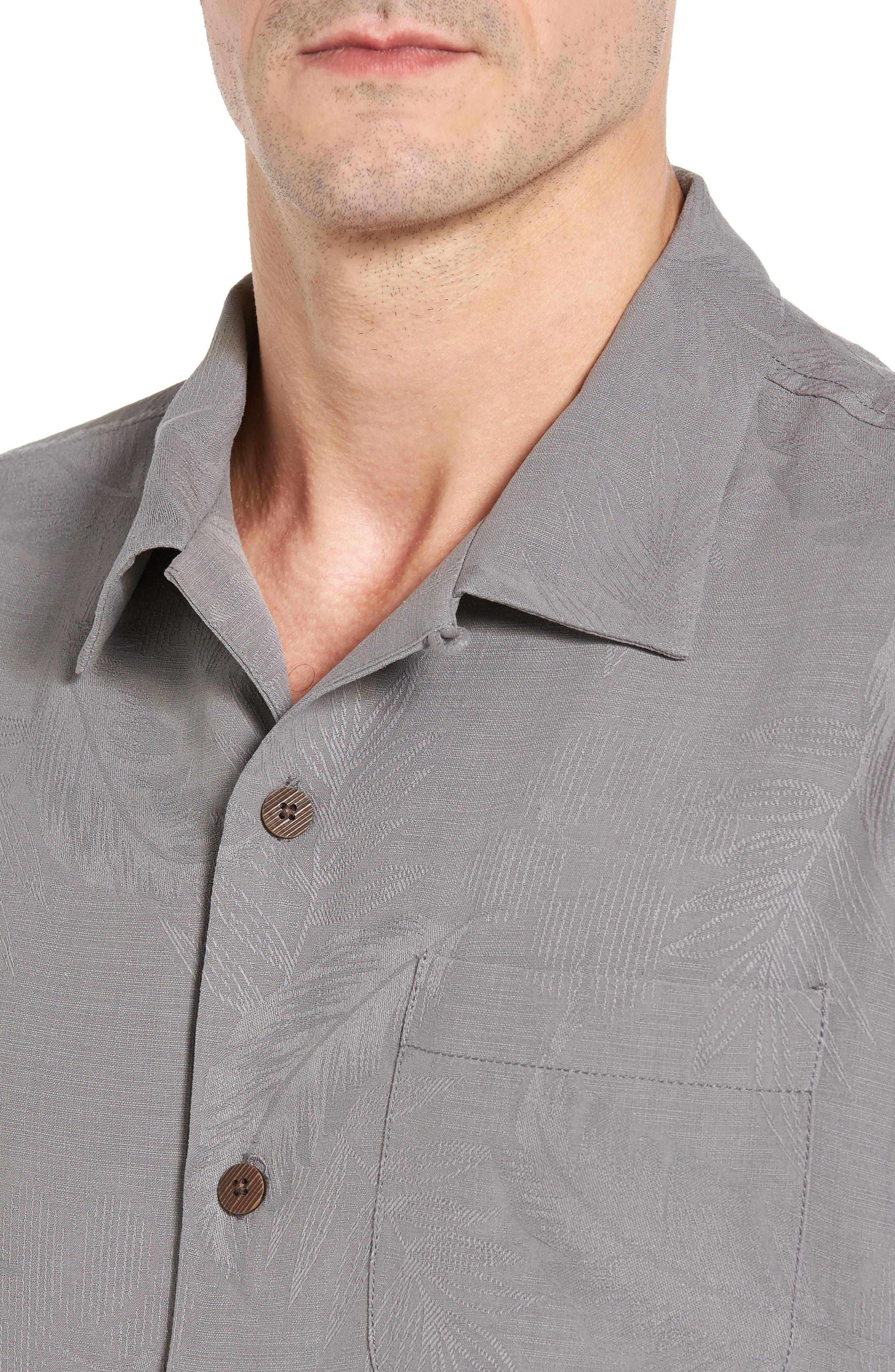 Rio Fronds Short Sleeve Silk Sport Shirt,                             Alternate thumbnail 50, color,
