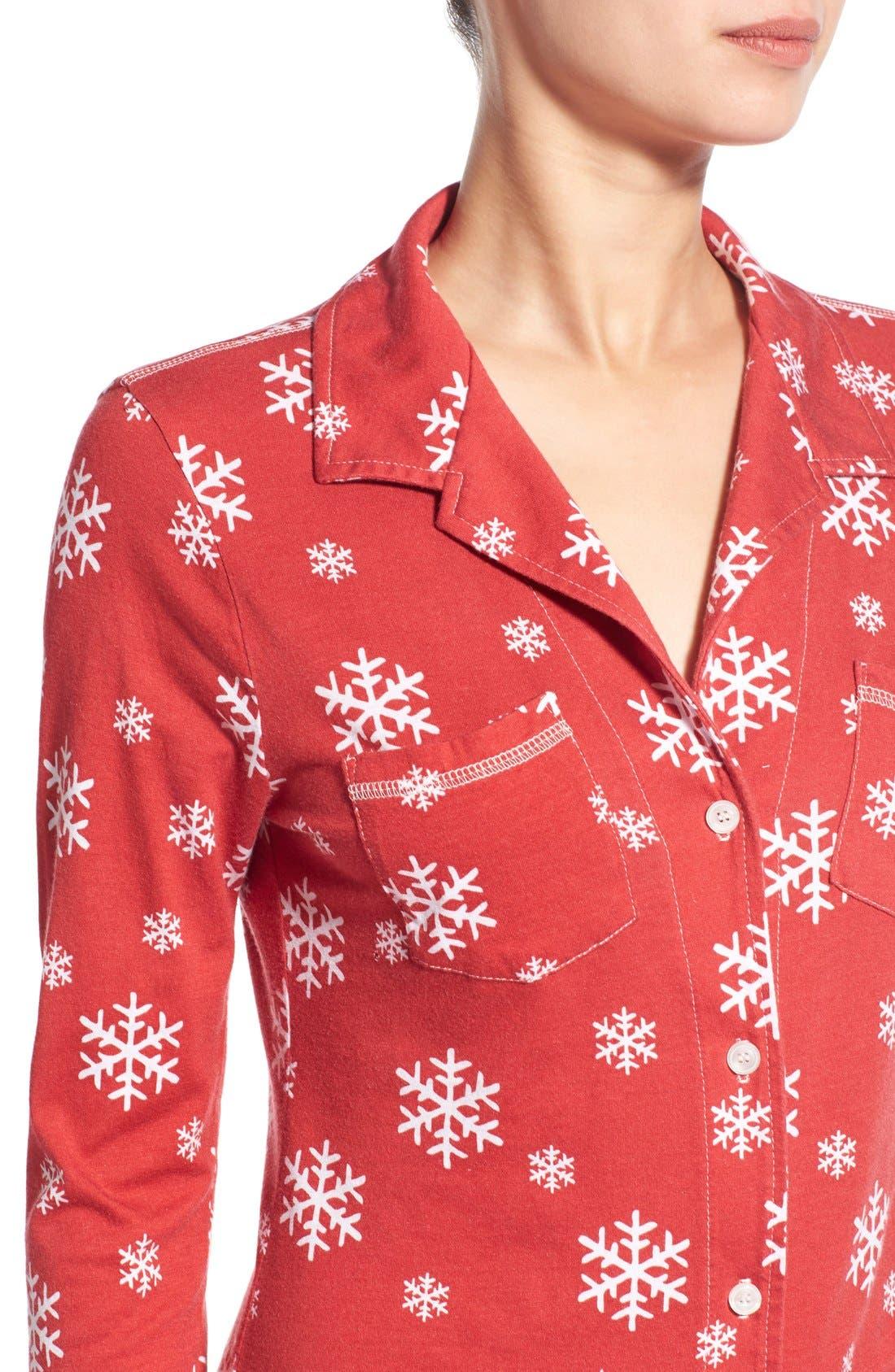 'Cassie' Supima<sup>®</sup> Cotton & Modal Pajamas,                             Alternate thumbnail 5, color,                             600