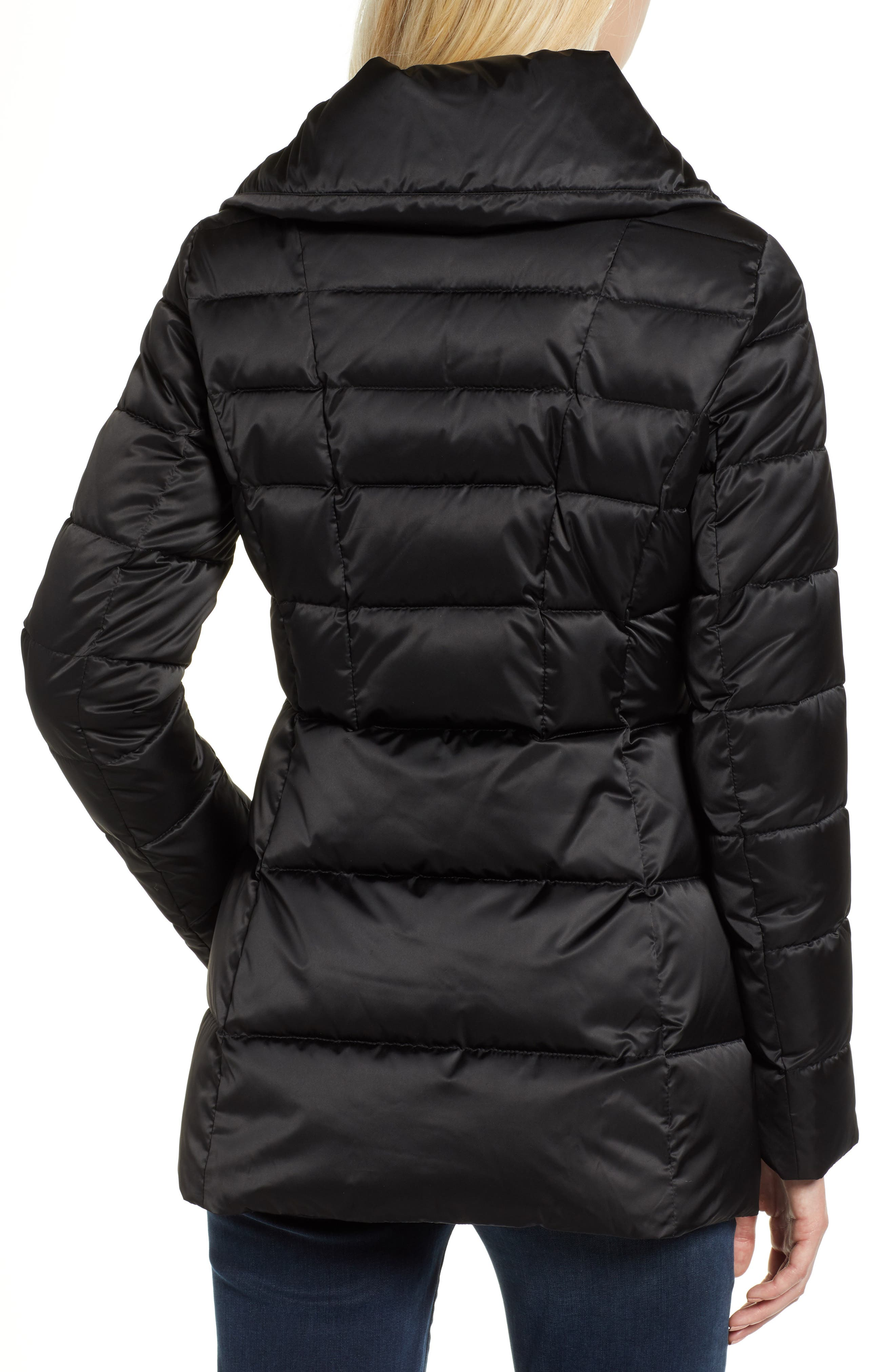 Blair Moto Style Puffer Jacket,                             Alternate thumbnail 2, color,                             BLACK