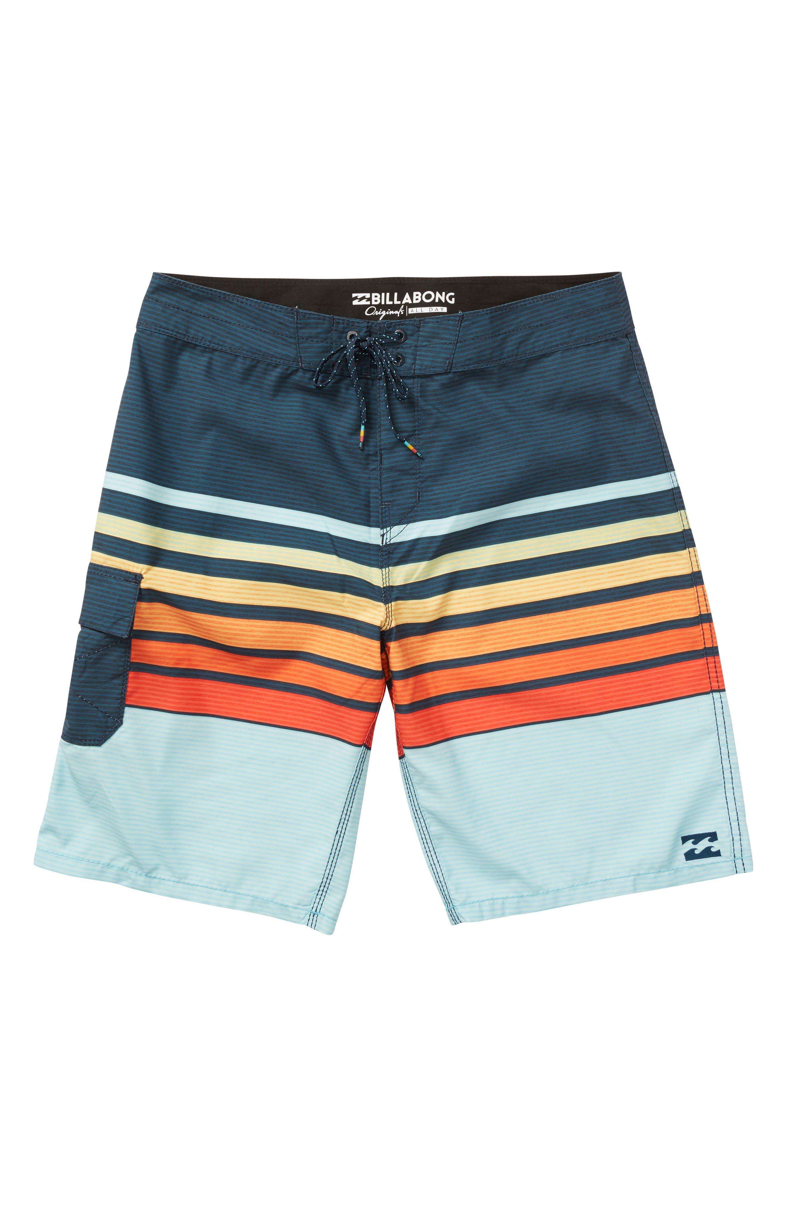All Day OG Stripe Board Shorts,                             Alternate thumbnail 9, color,