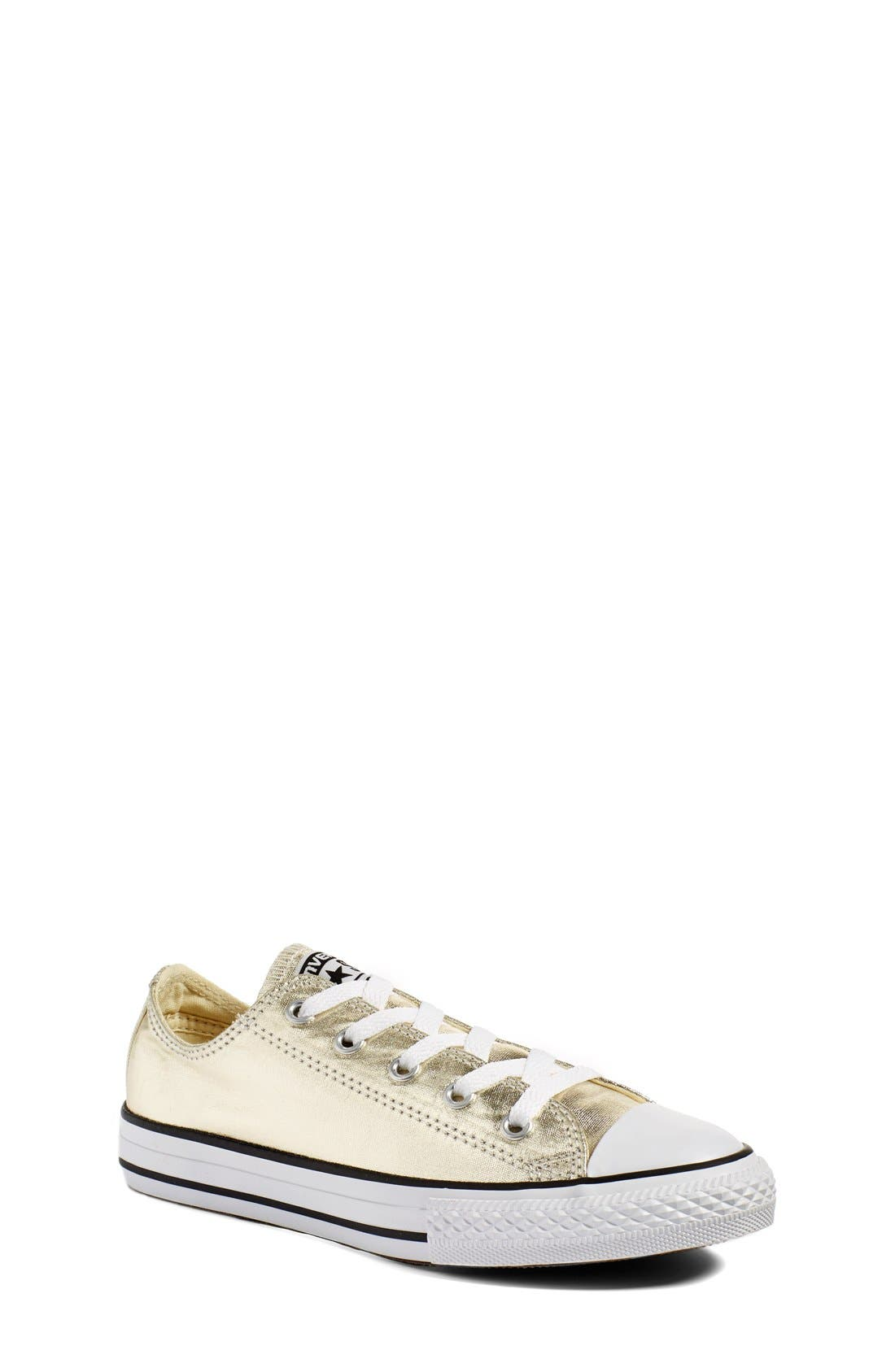 Chuck Taylor<sup>®</sup> All Star<sup>®</sup> Metallic Sneaker,                             Main thumbnail 1, color,                             LIGHT GOLD/ WHITE