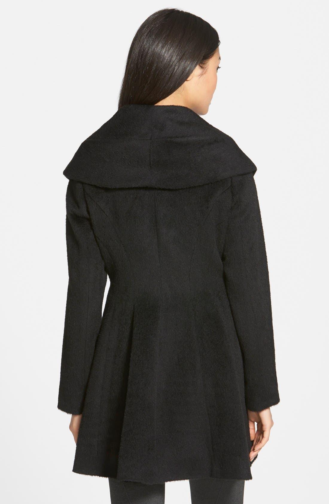 TRINA TURK,                             'Bonnie' Shawl Collar Skirted Coat,                             Alternate thumbnail 2, color,                             001
